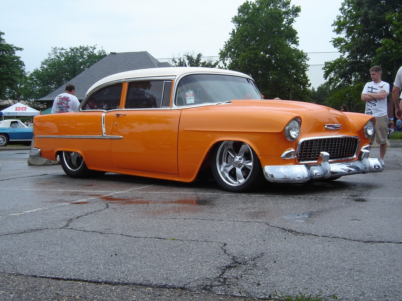 1955 cars Chevrolet Bel HD Wallpaper
