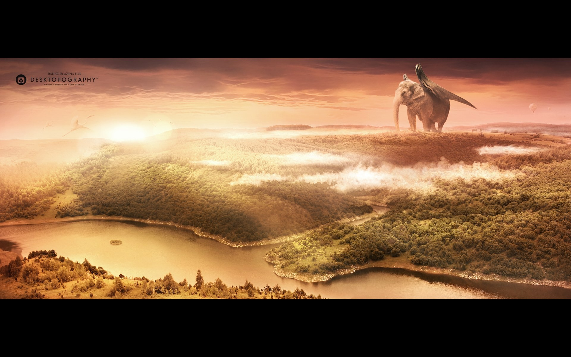 3D view Landscapes wings HD Wallpaper