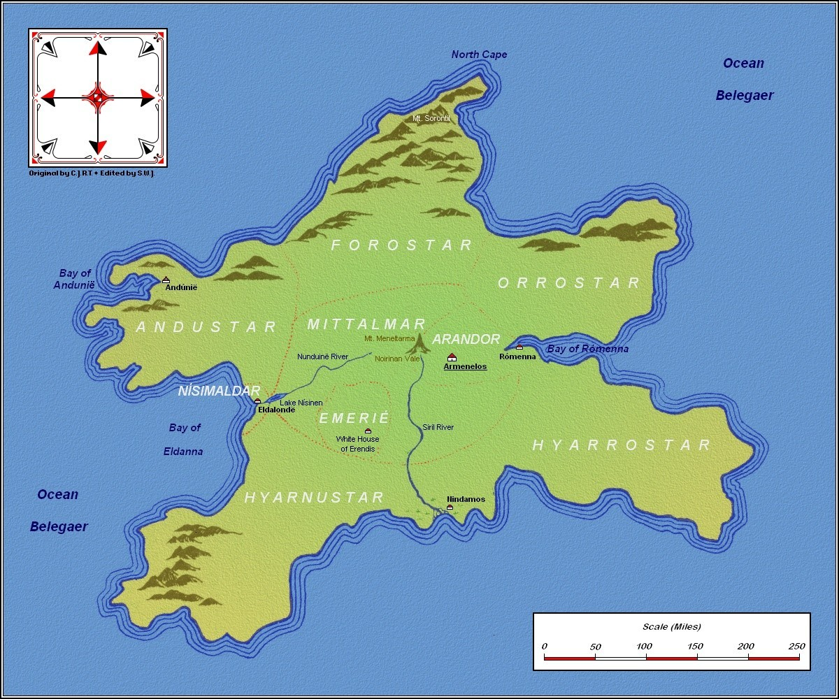 maps middle earth silmarillion jrr