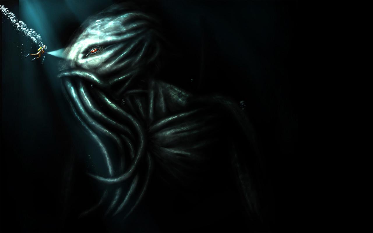 Monsters Cthulhu Kraken Squid
