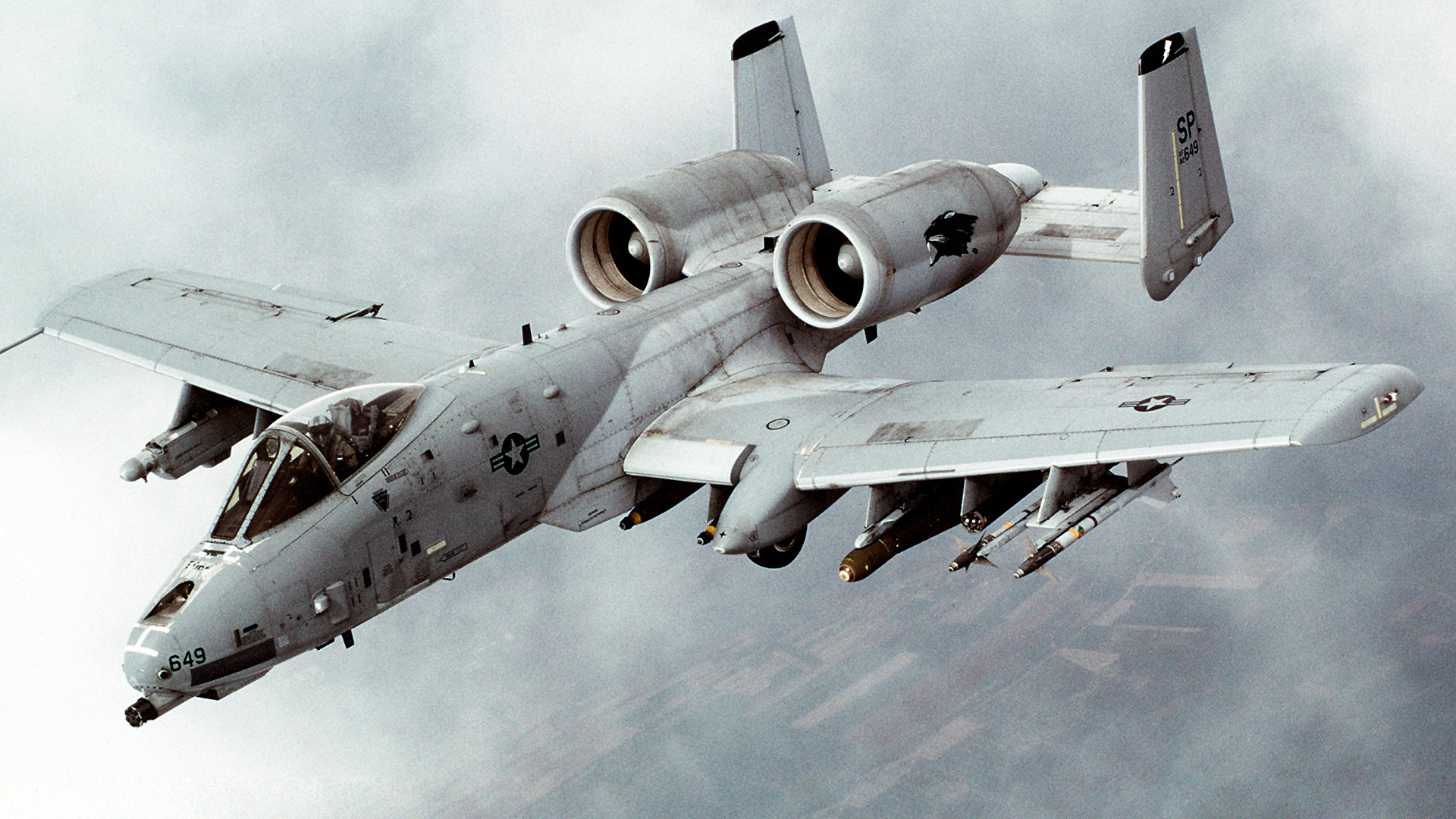 A-10 Thunderbolt II warthog HD Wallpaper
