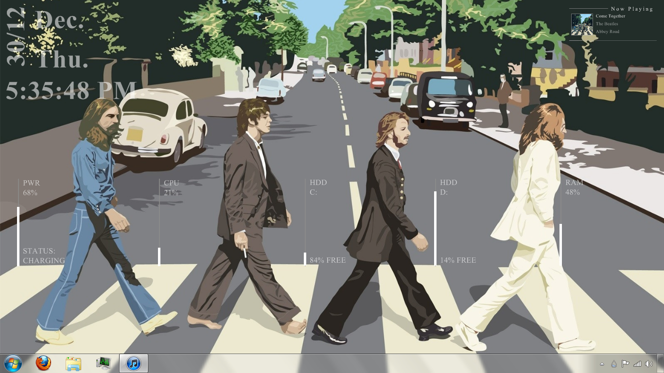 abbey road The Beatles HD Wallpaper