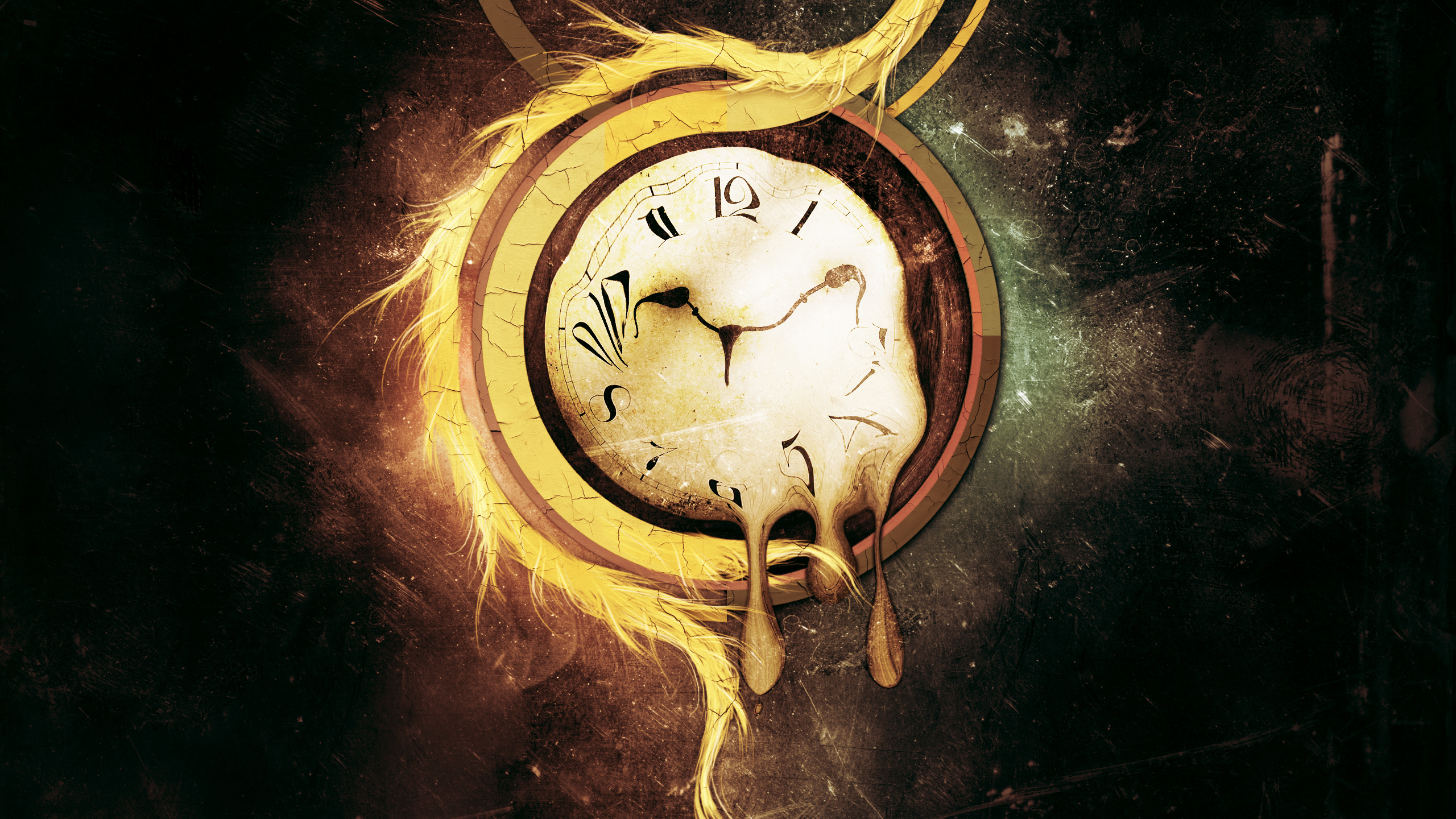 abstract artistic clocks surrealism HD Wallpaper