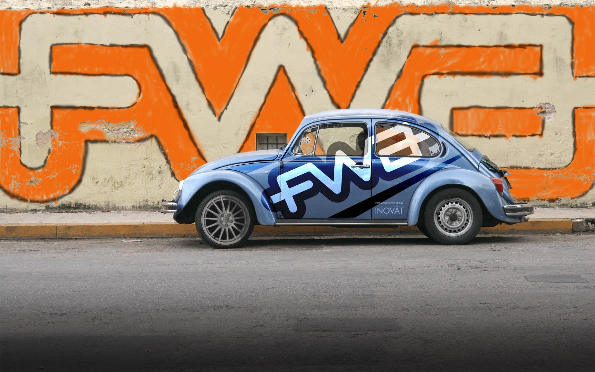 abstract artwork volkswagen beetle