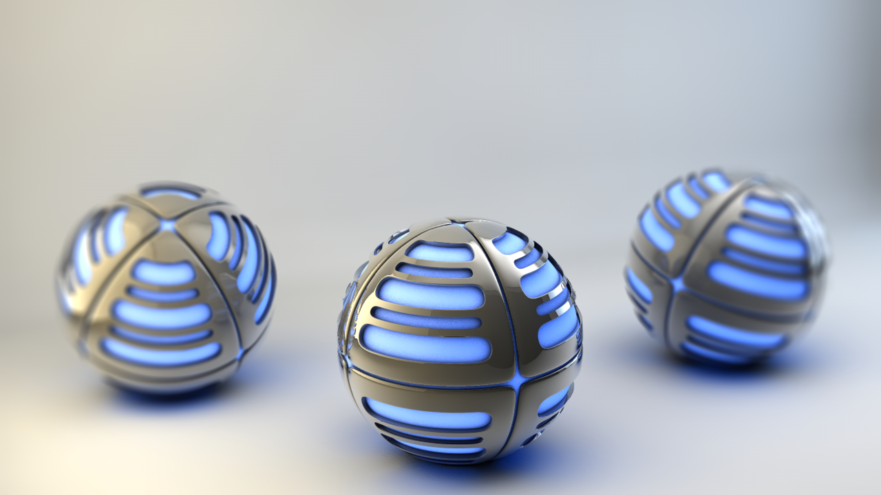 abstract balls Grenades spheres HD Wallpaper