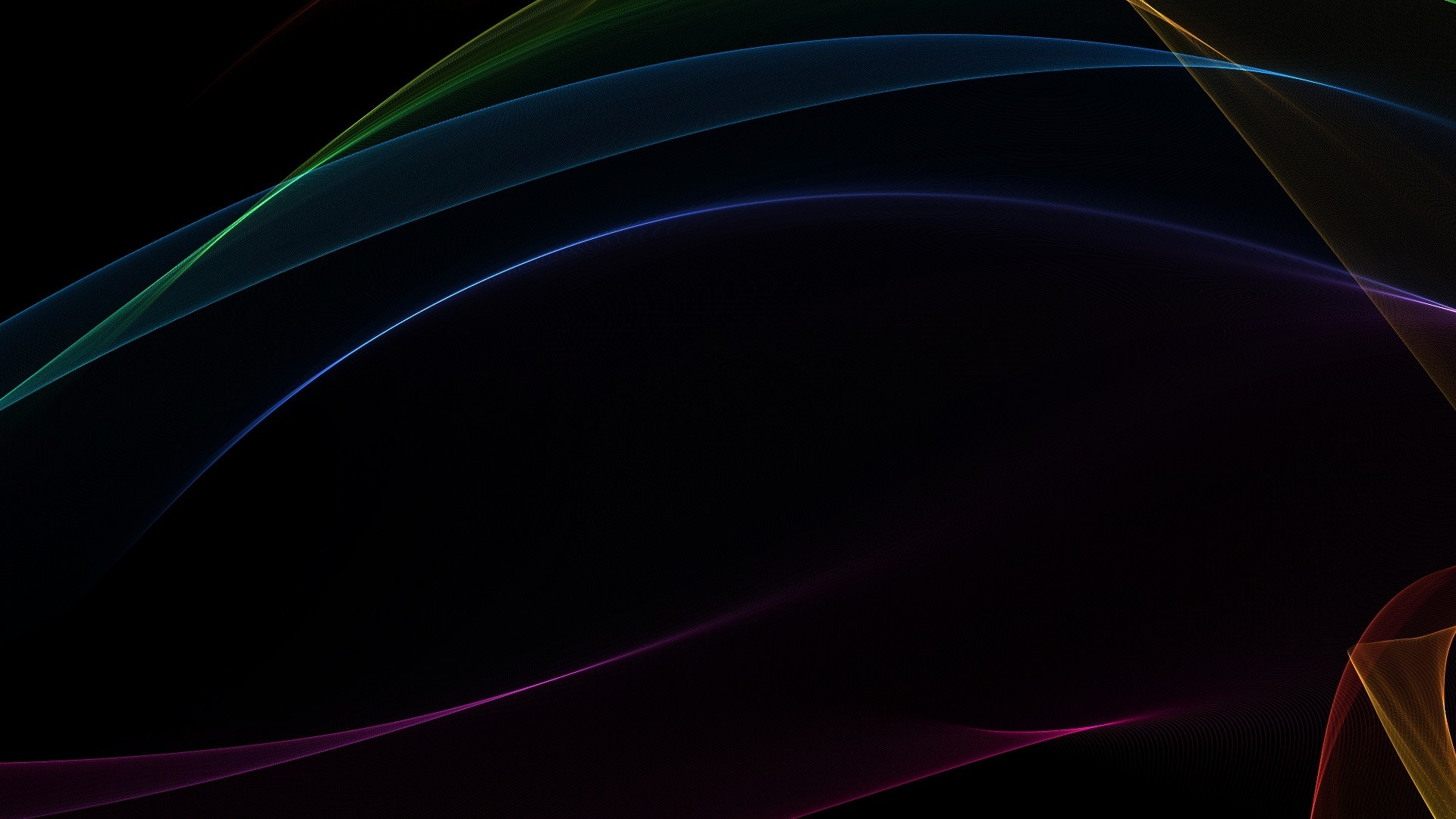 abstract black minimalistic waves HD Wallpaper