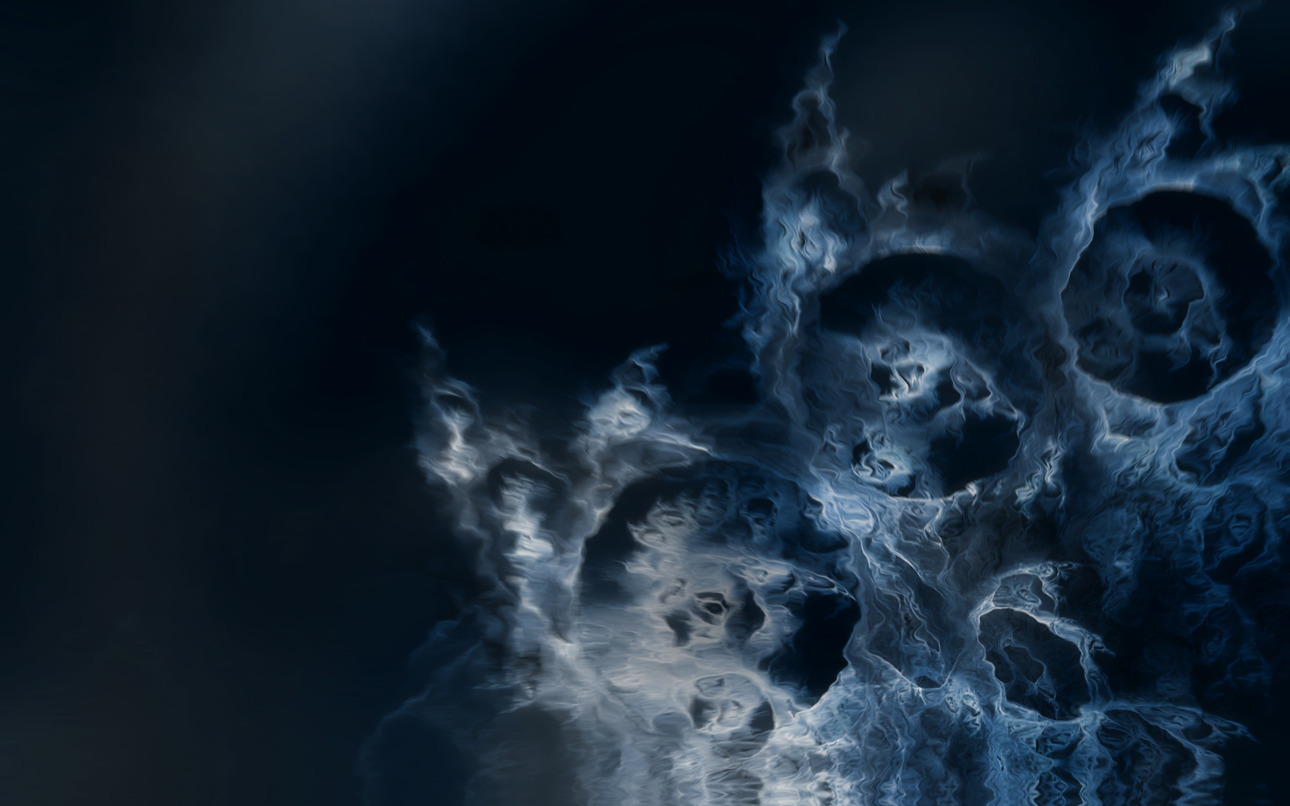 abstract blue fire Fractals HD Wallpaper