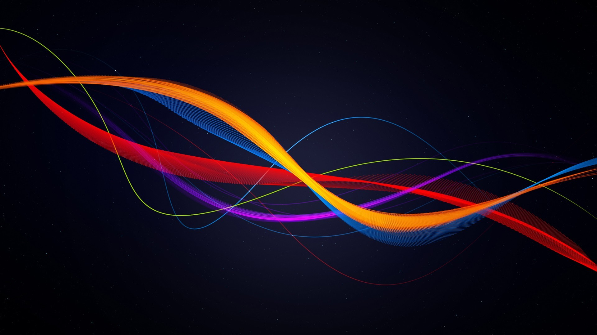 abstract blue multicolor Ribbons HD Wallpaper