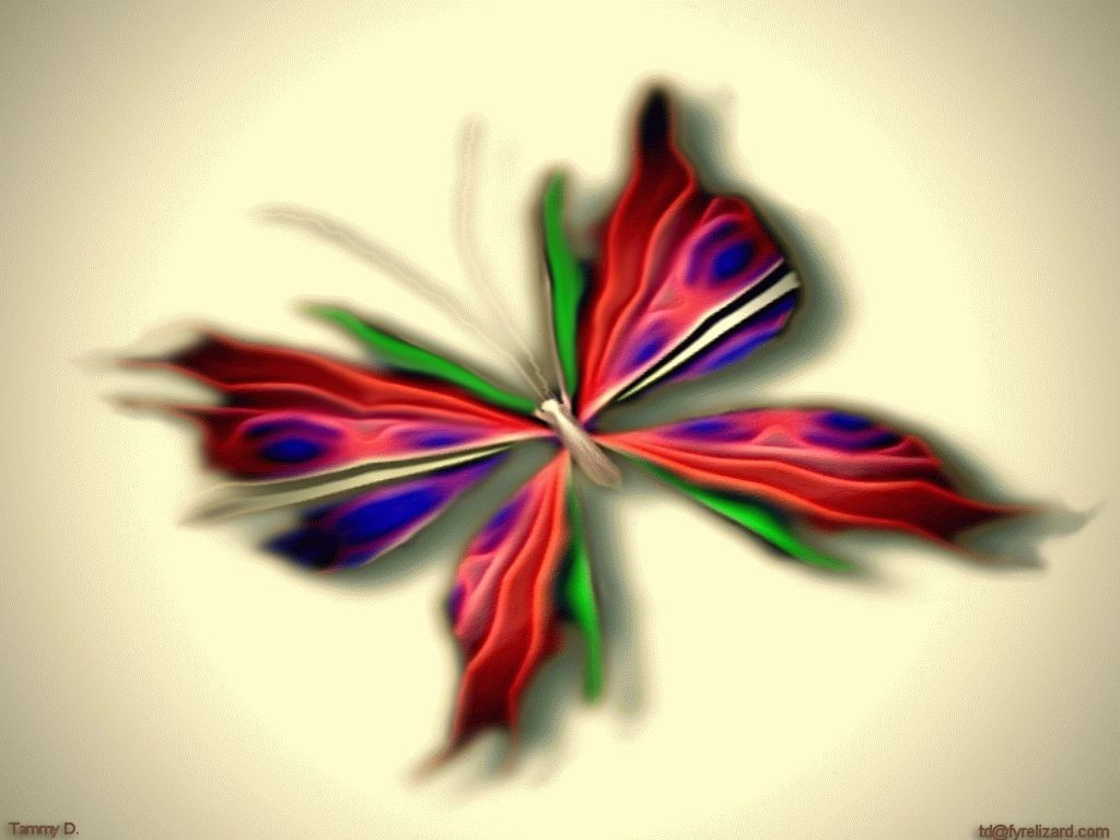 abstract blurred Butterflies HD Wallpaper