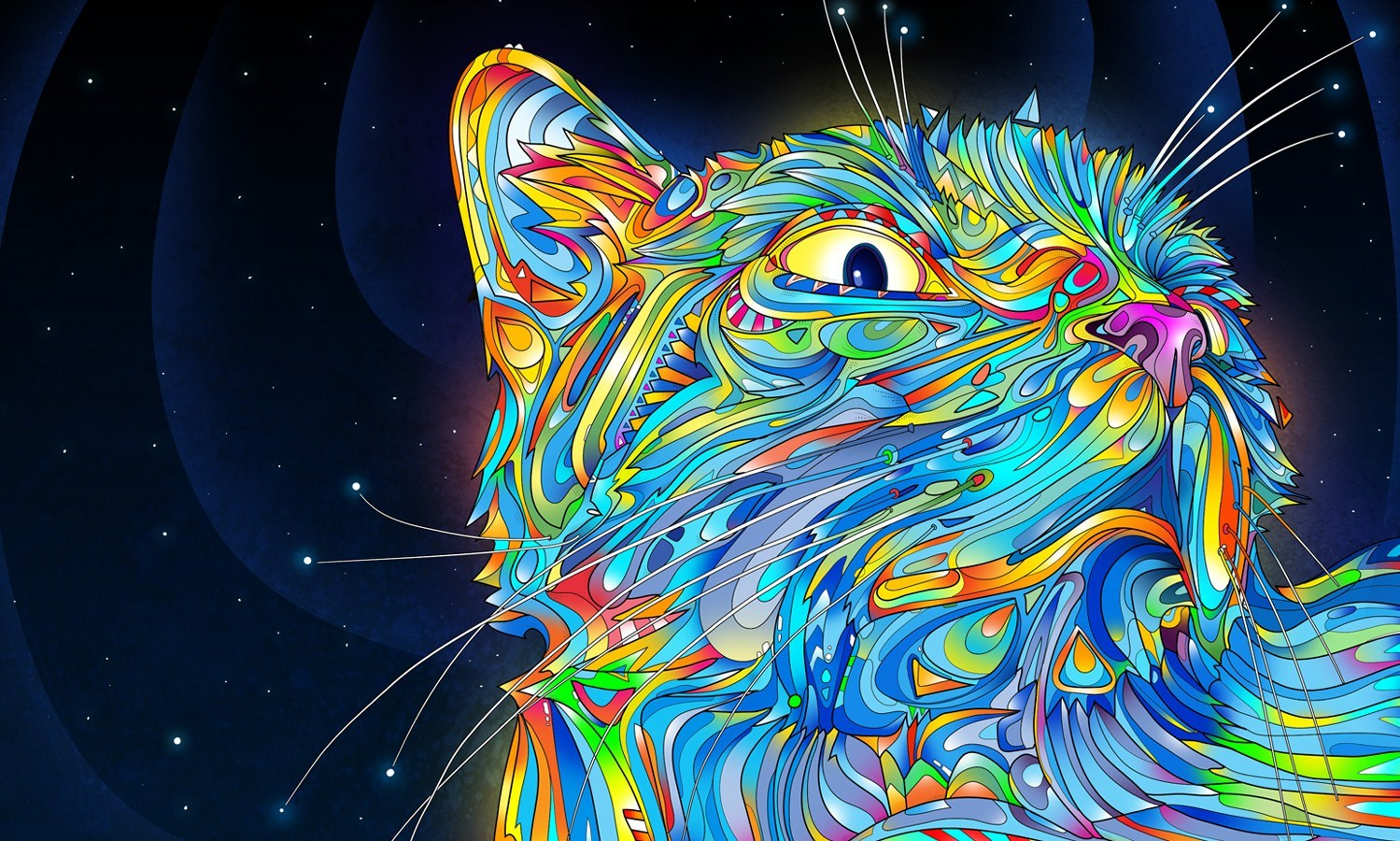 abstract cats Matei Apostolescu HD Wallpaper