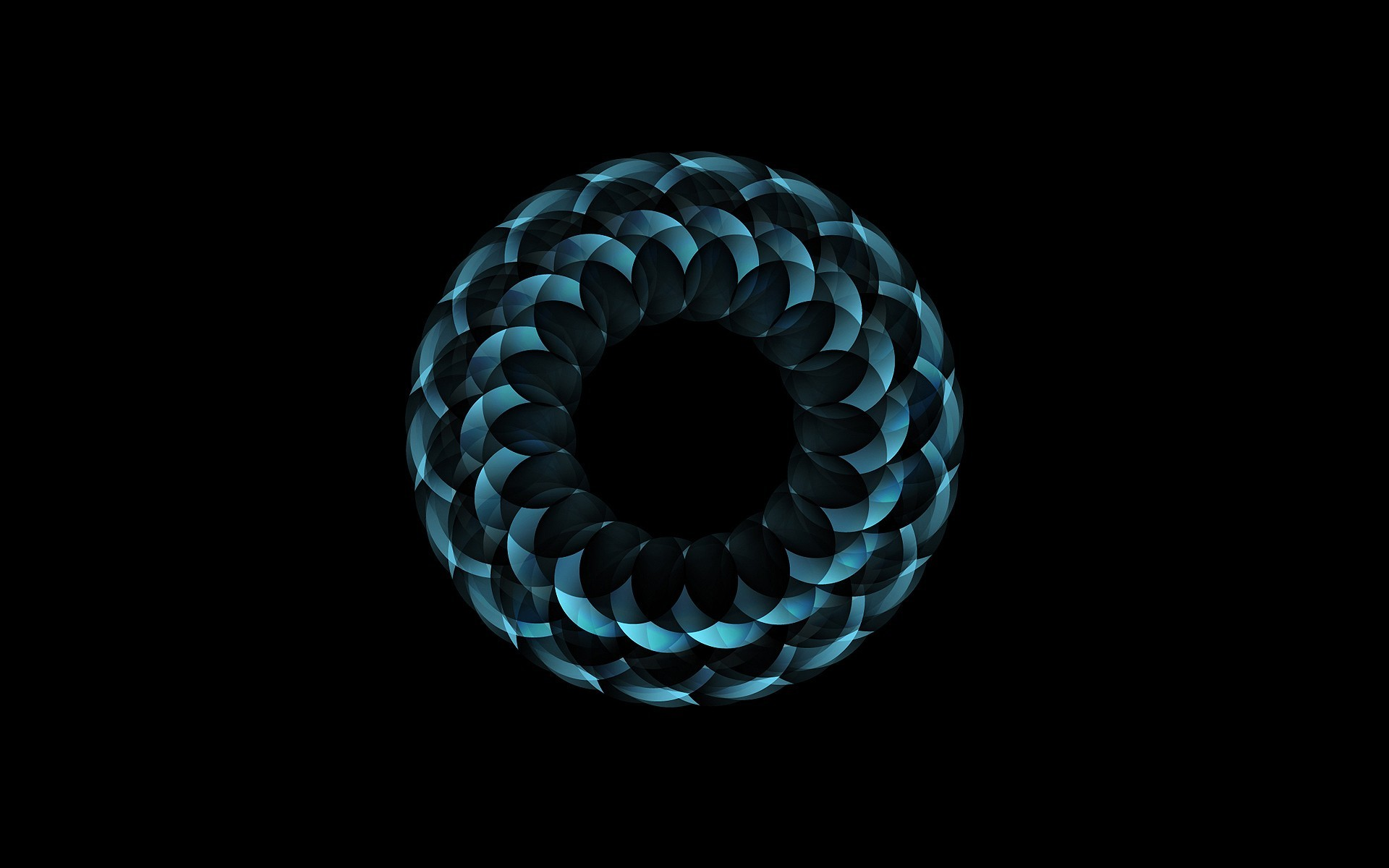 abstract circles black background HD Wallpaper