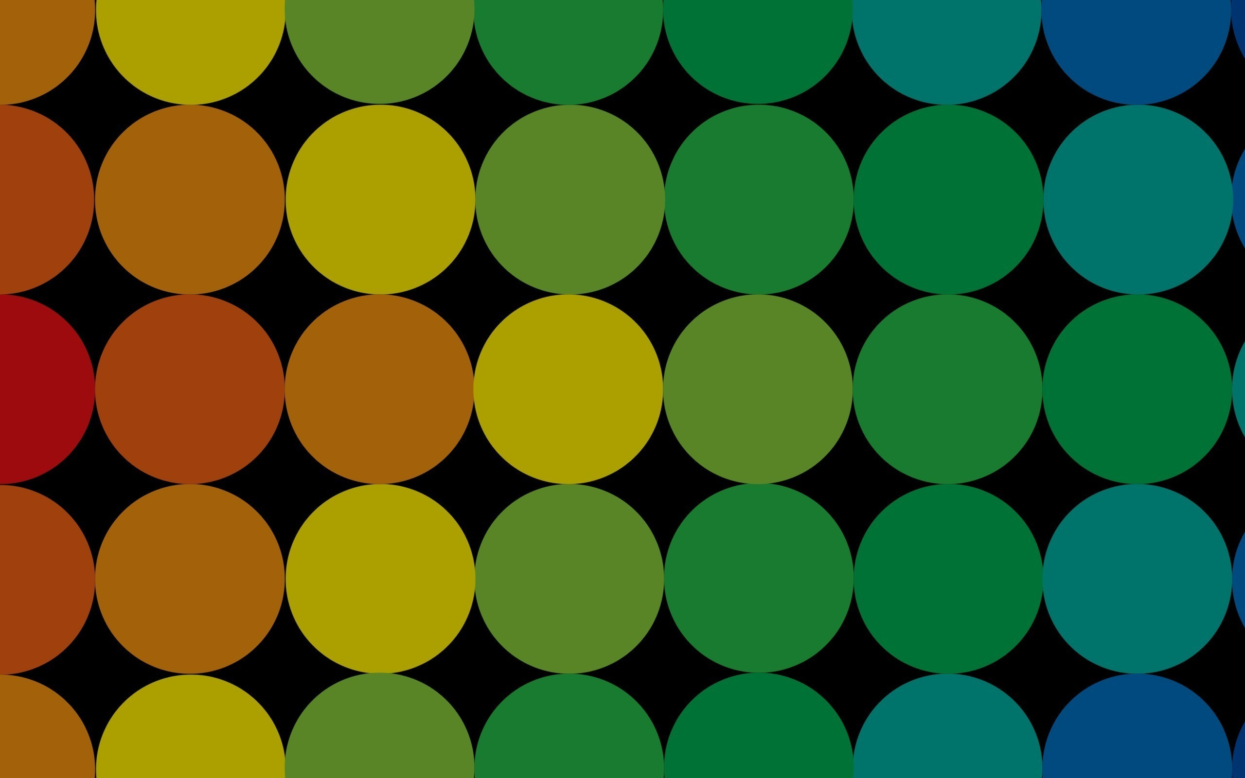 abstract circles multicolor artwork