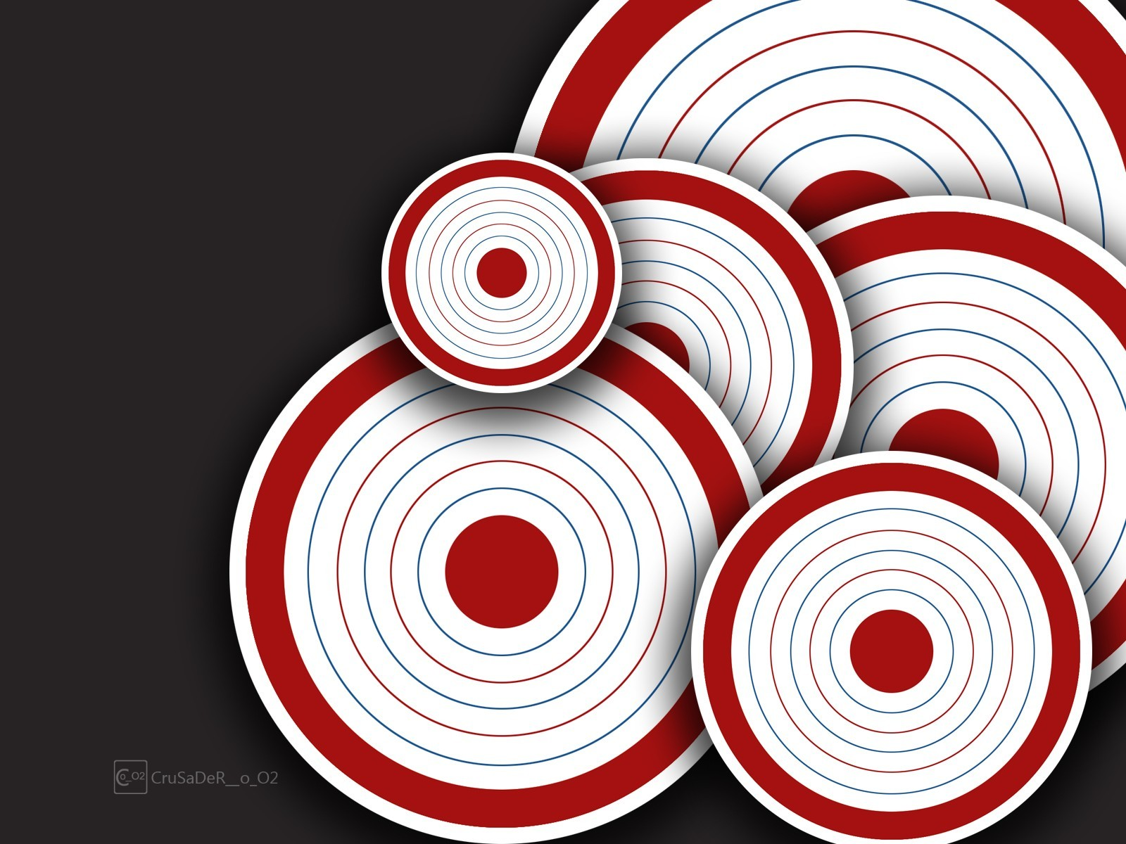abstract circles target HD Wallpaper