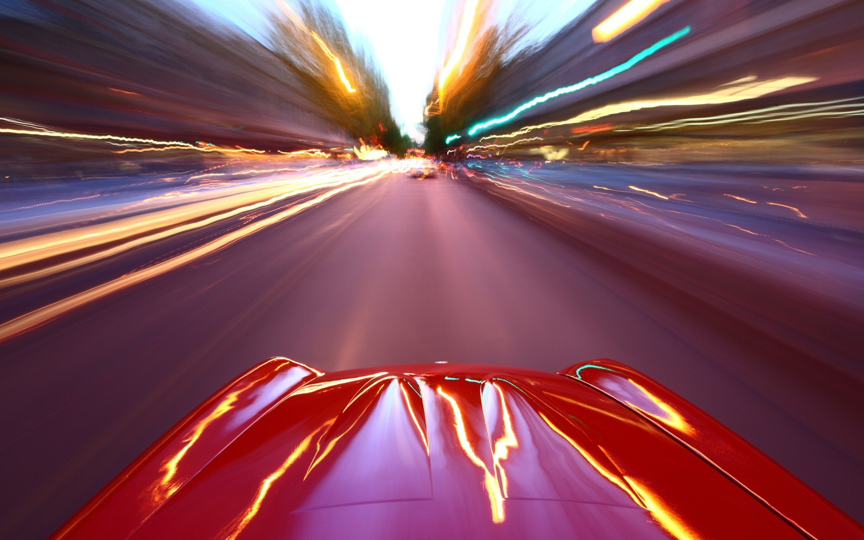 abstract cityscapes cars Ferrari HD Wallpaper