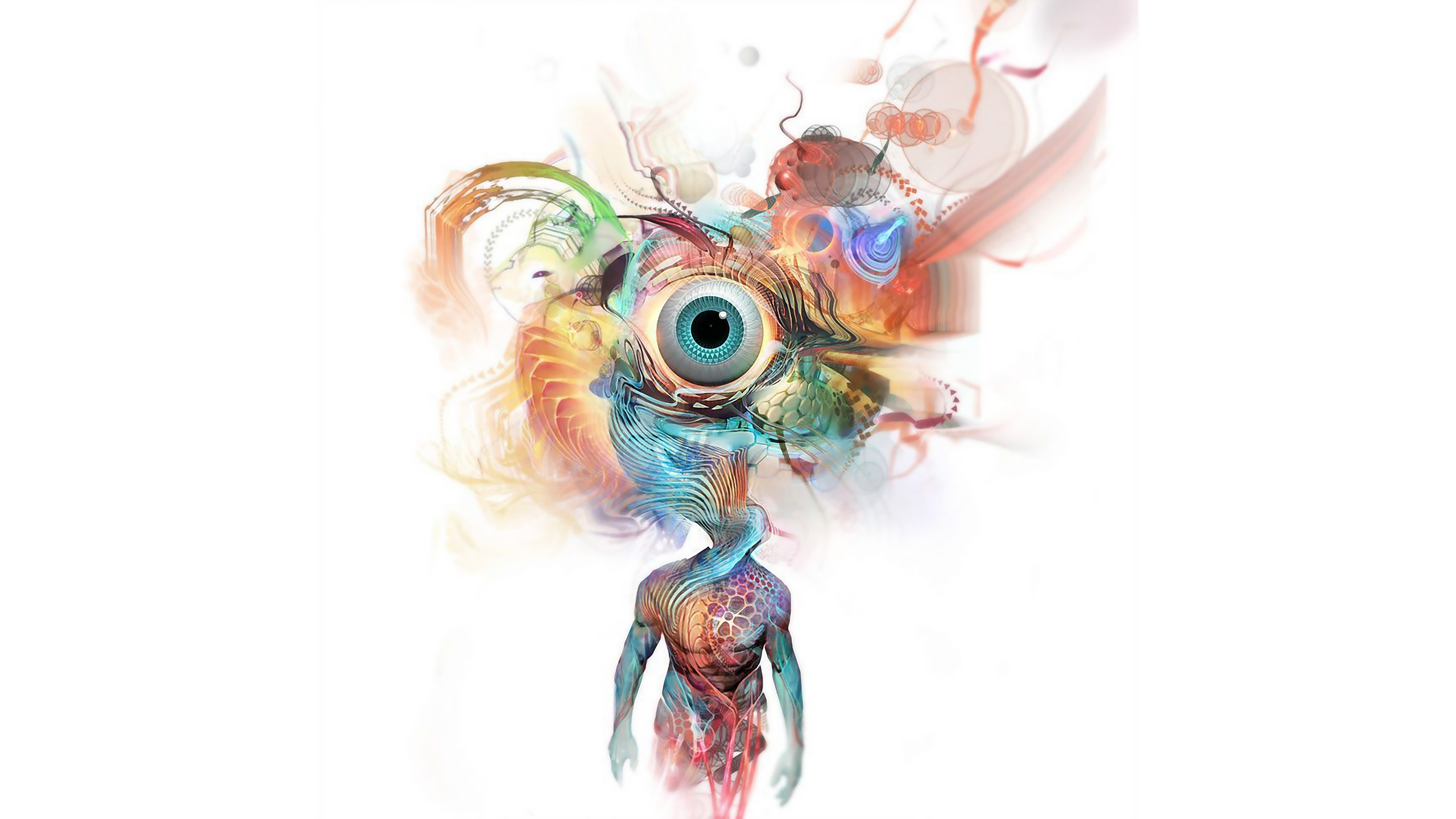 abstract eyes artistic WTF HD Wallpaper