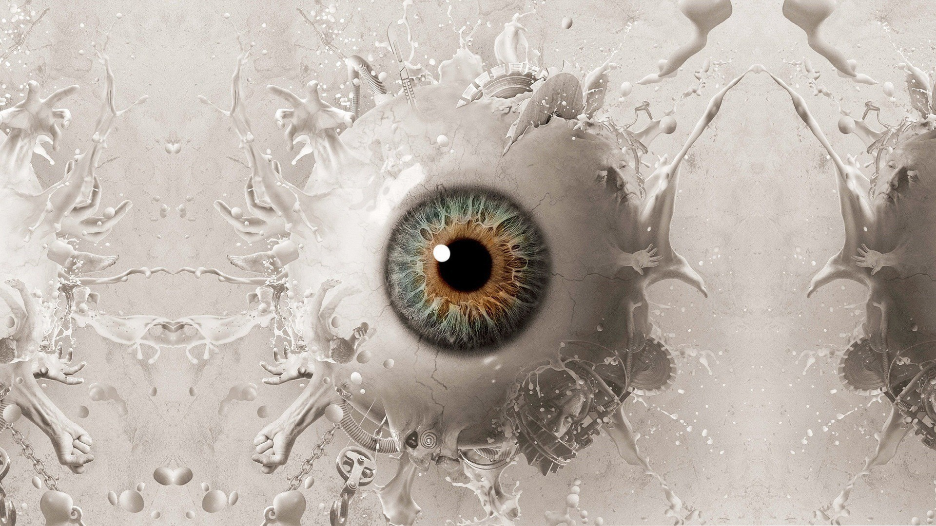 abstract eyes balls Saw HD Wallpaper