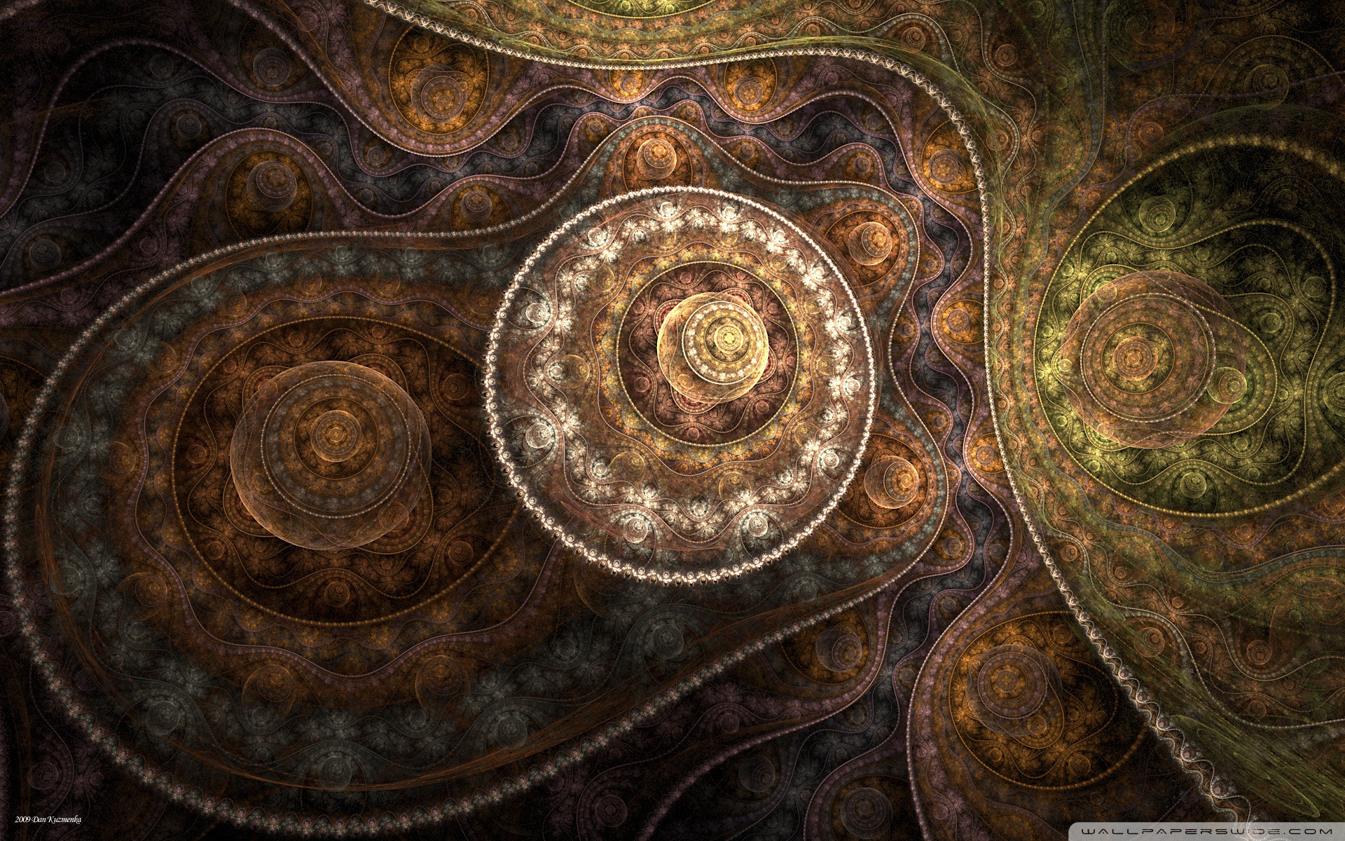 abstract Fractals earth tones HD Wallpaper