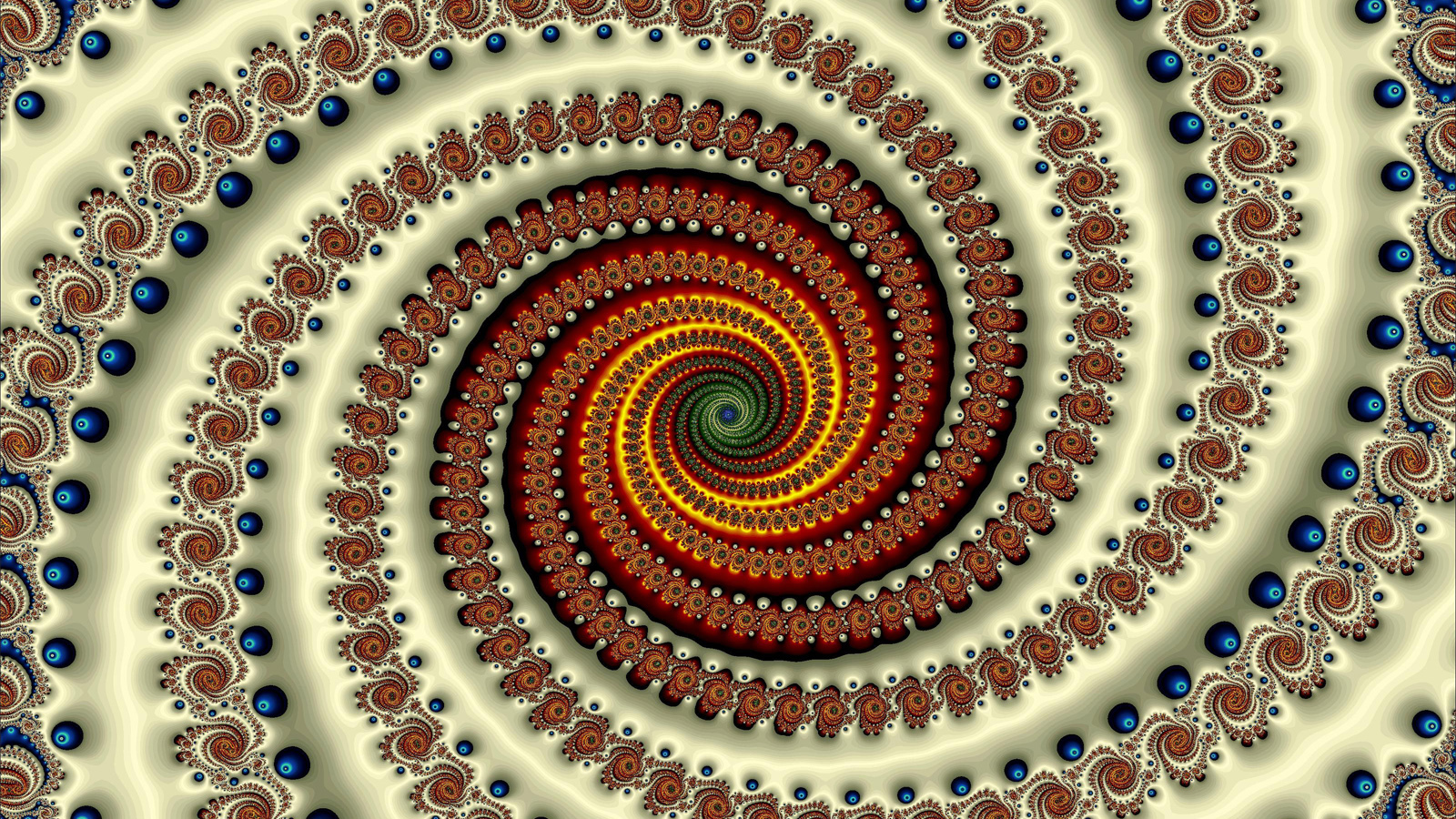 abstract Fractals psychedelic spirals