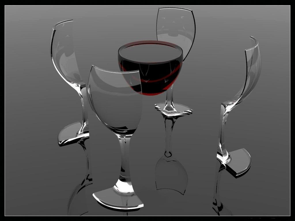 abstract glass wine 3D HD Wallpaper