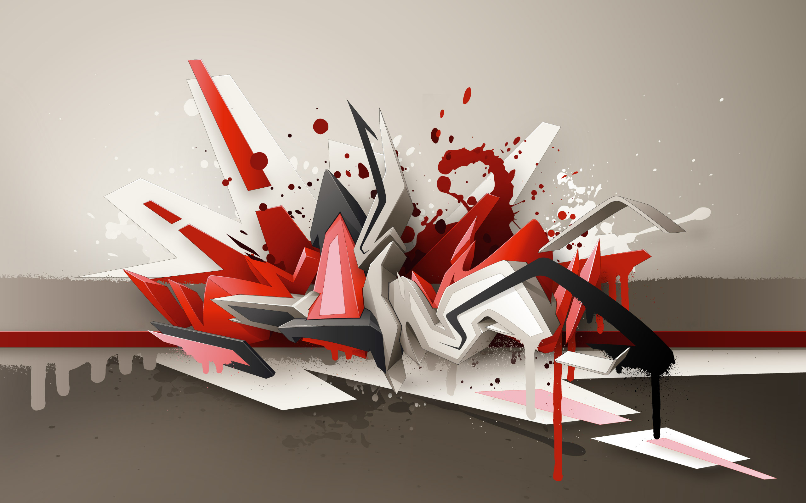abstract graffiti street art HD Wallpaper