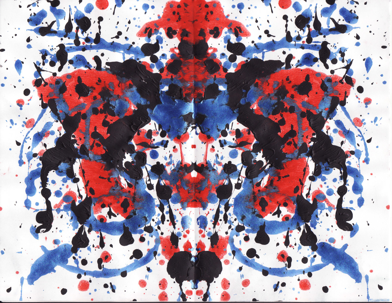 Abstract Ink Blot Rorschach