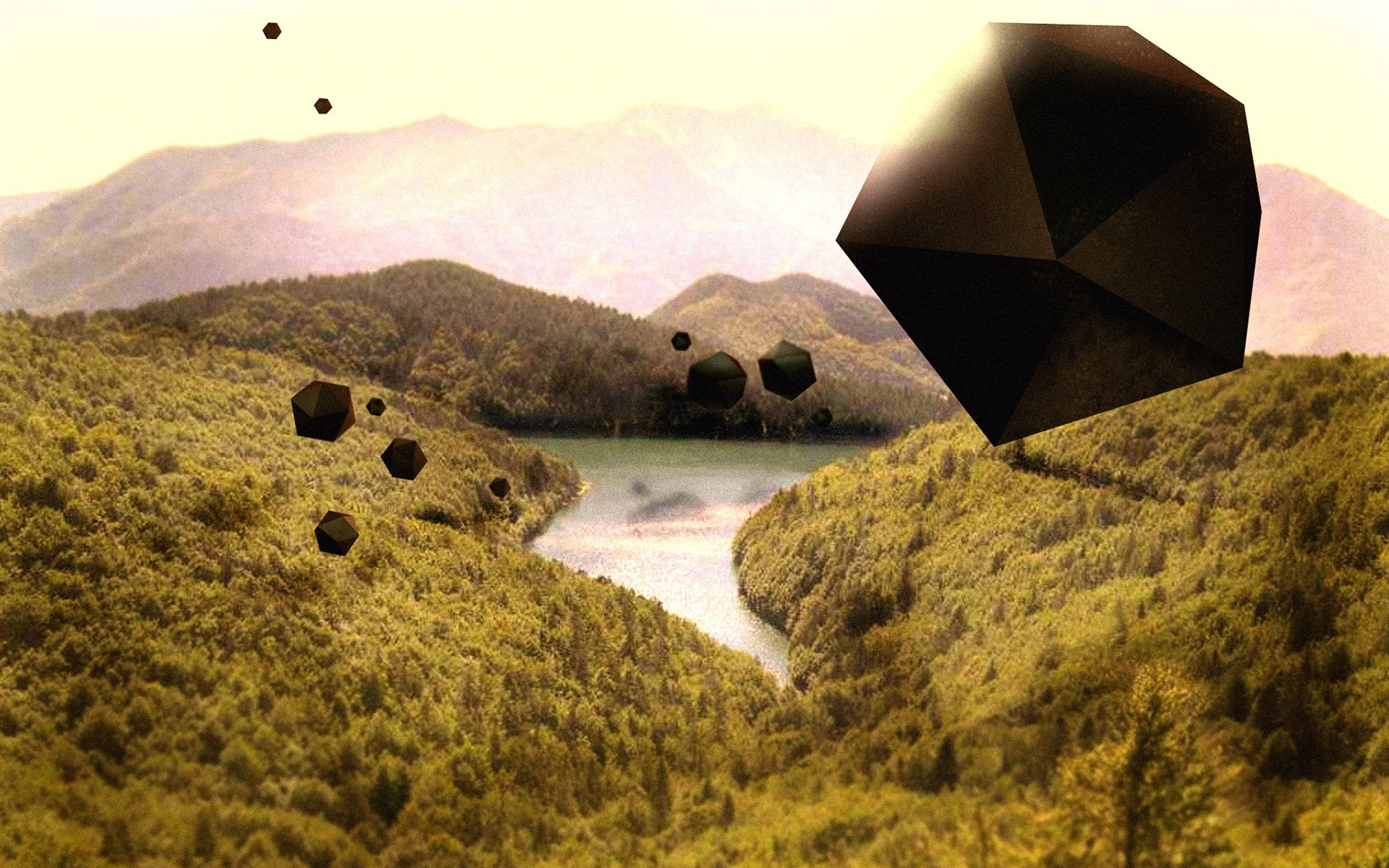 abstract Landscapes hills surreal