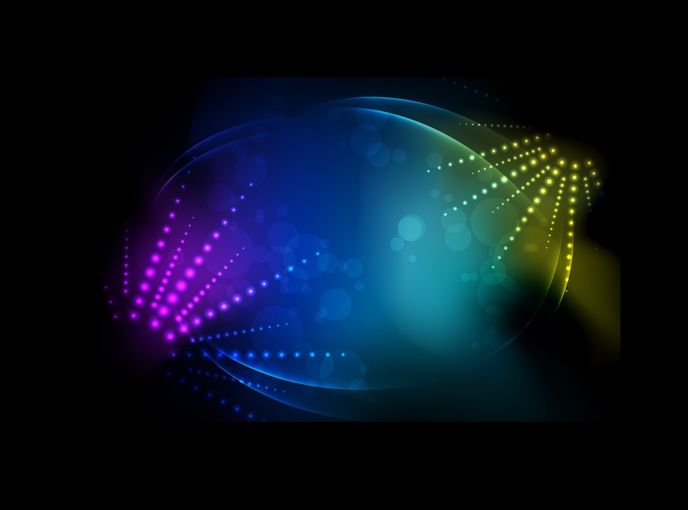 abstract lights multicolor disco HD Wallpaper