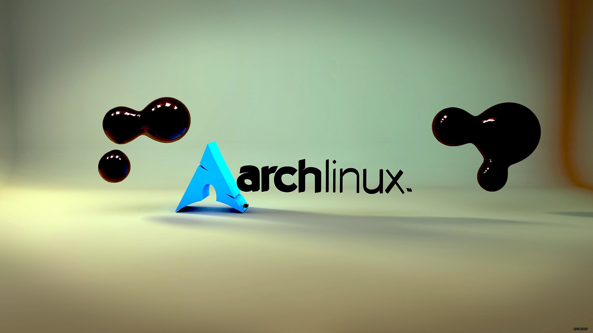 abstract minimalistic Linux arch HD Wallpaper