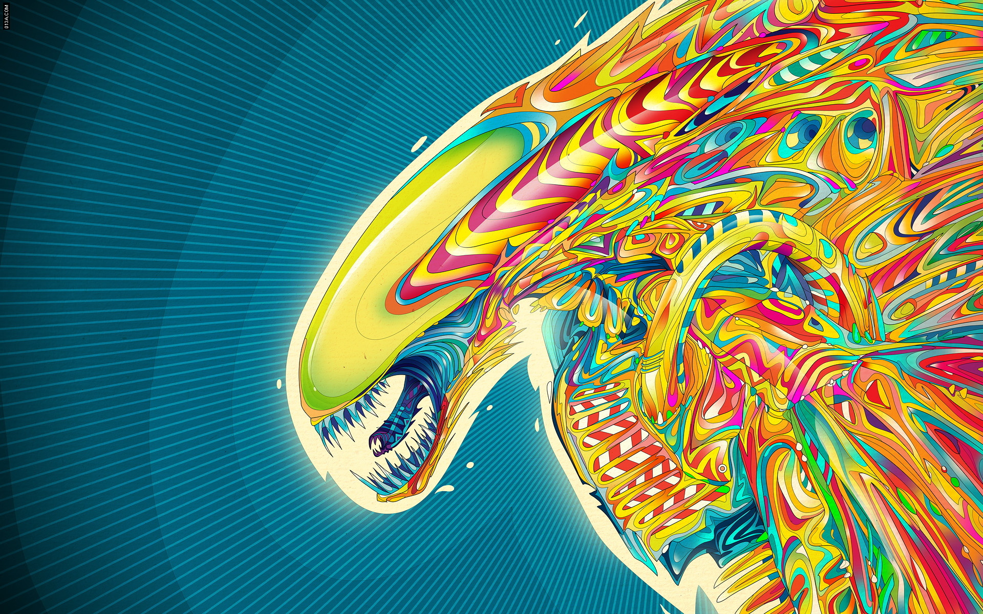 abstract multicolor alien Matei HD Wallpaper