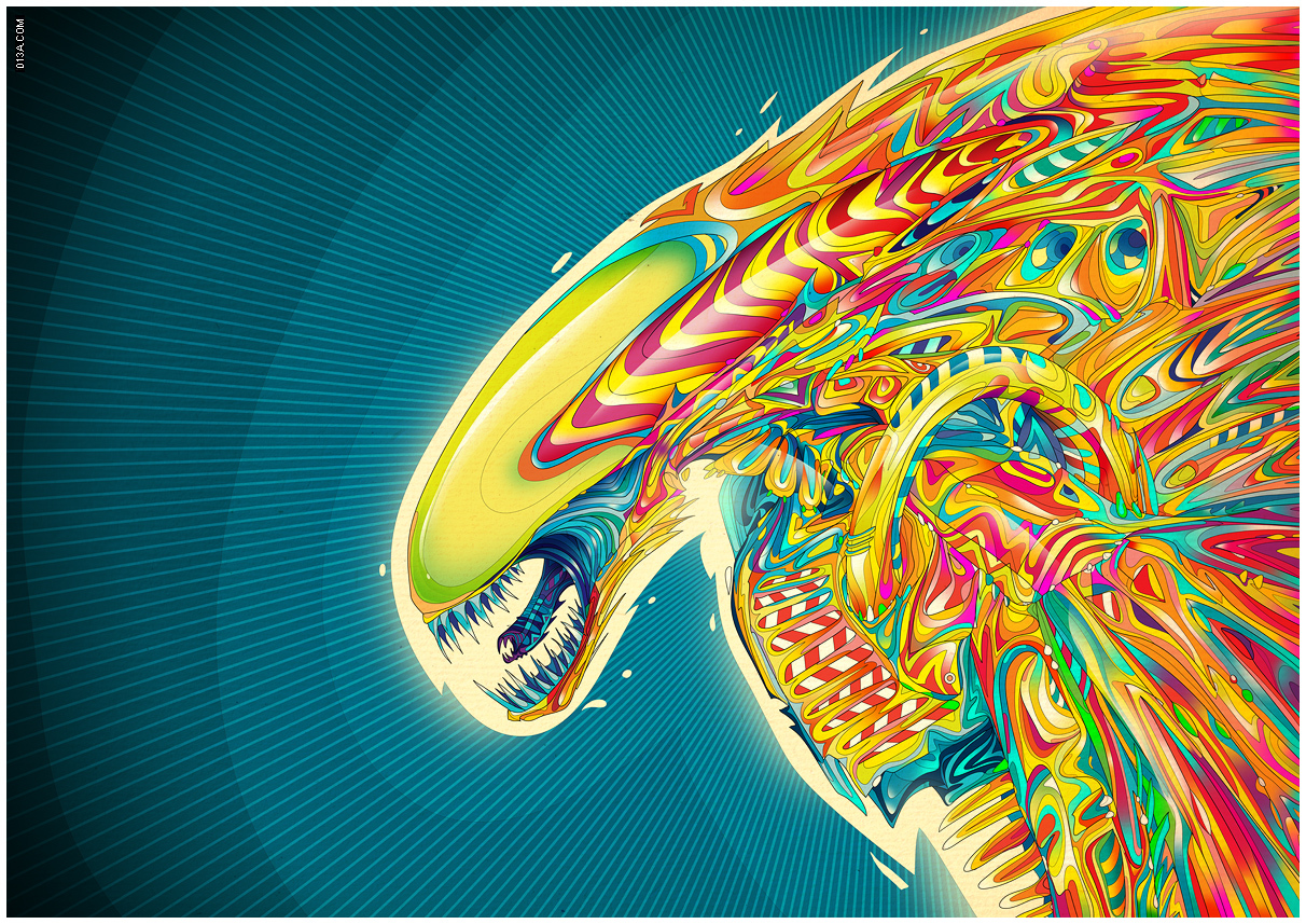 abstract multicolor Aliens Matei HD Wallpaper