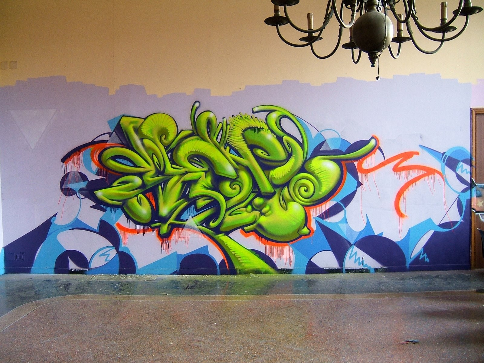 abstract multicolor graffiti street HD Wallpaper