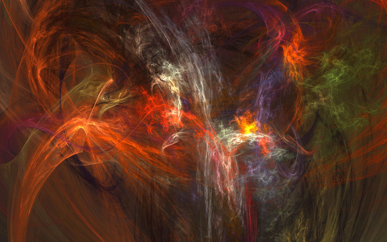 abstract multicolor smoke digital