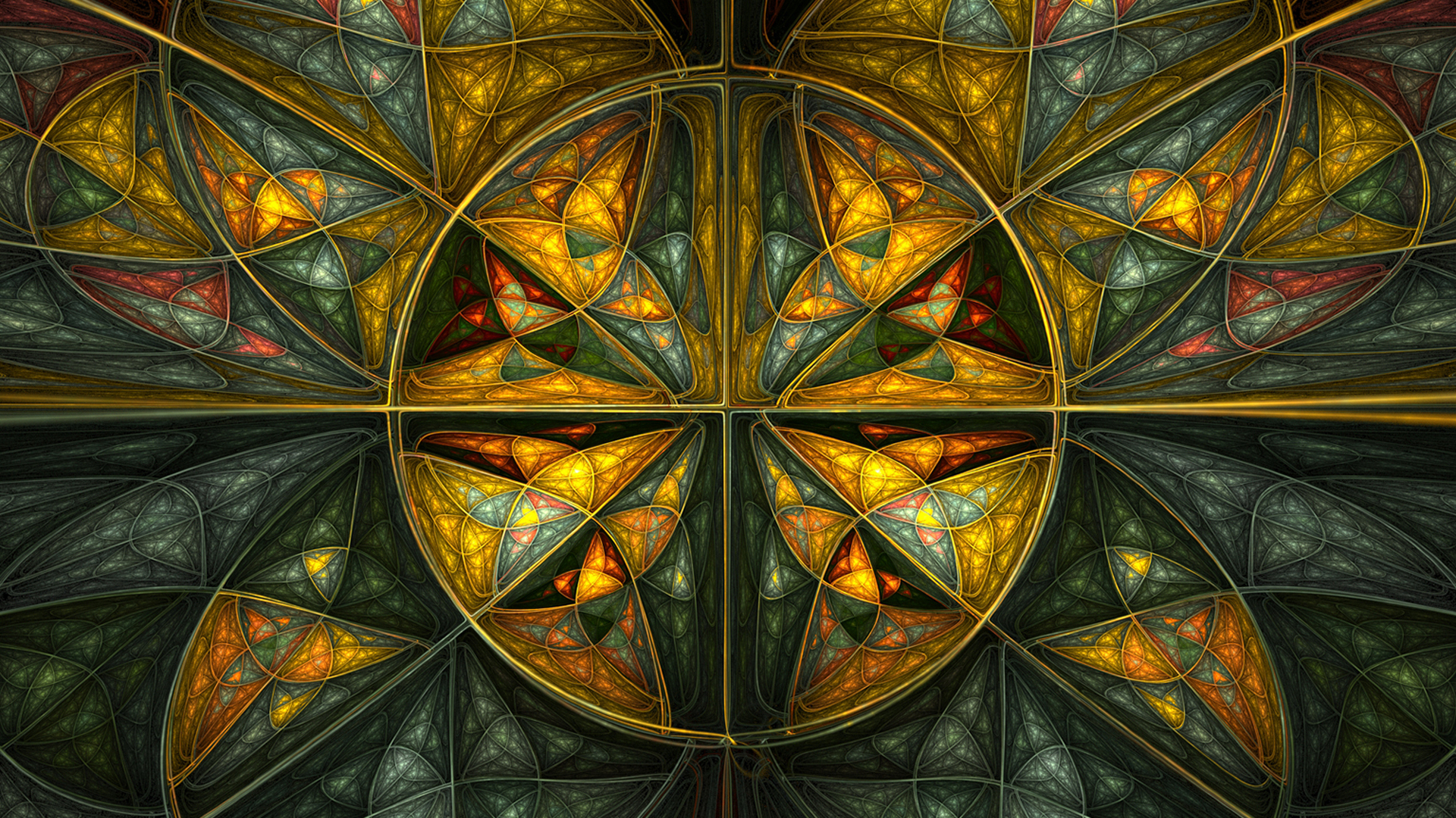 abstract multicolor stained glass HD Wallpaper