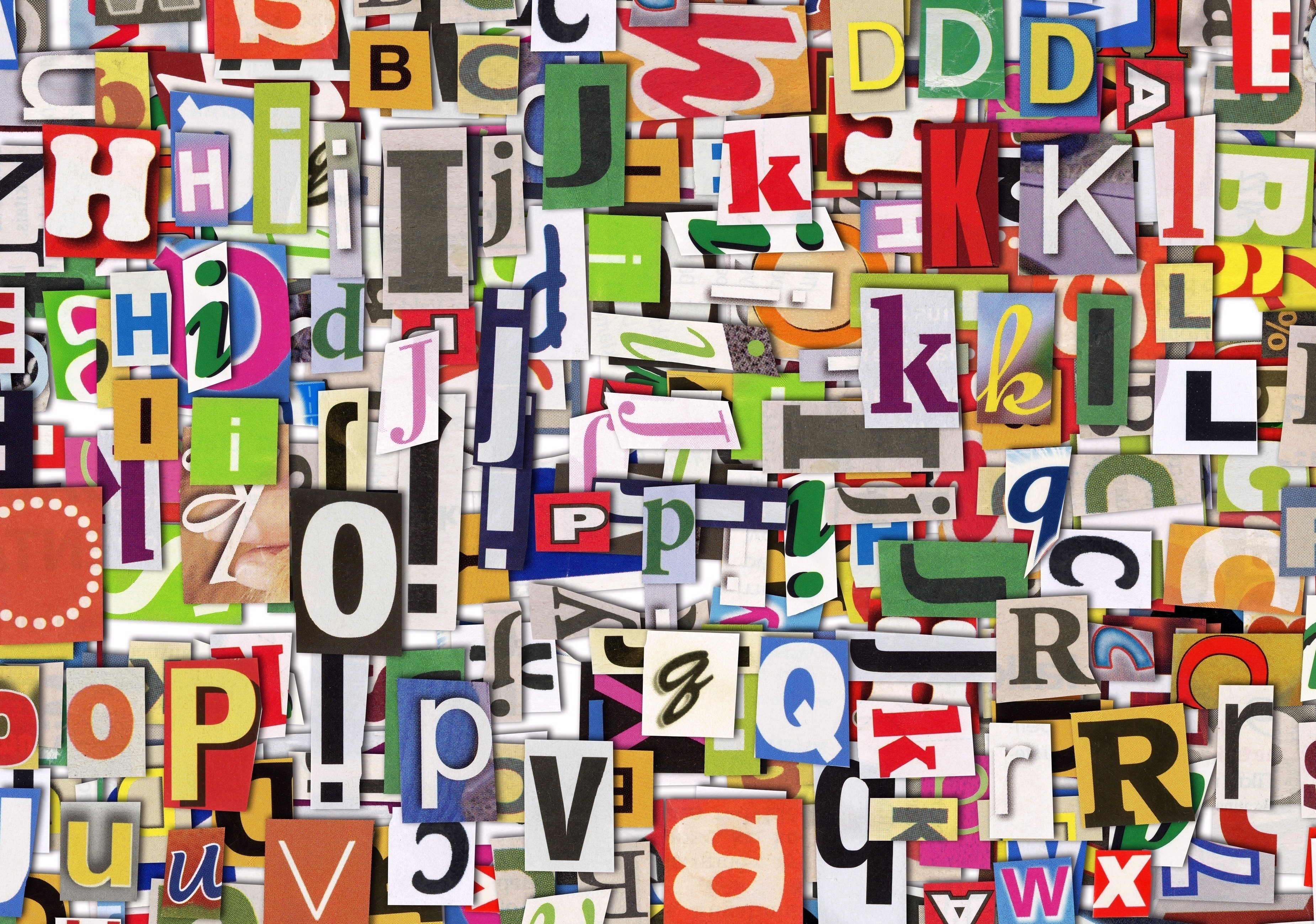 abstract multicolor Typography alphabet HD Wallpaper