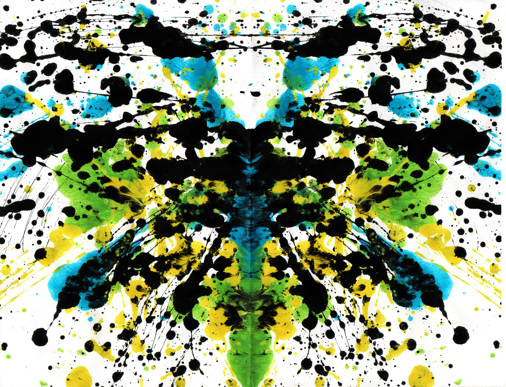 abstract paintings Rorschach test HD Wallpaper