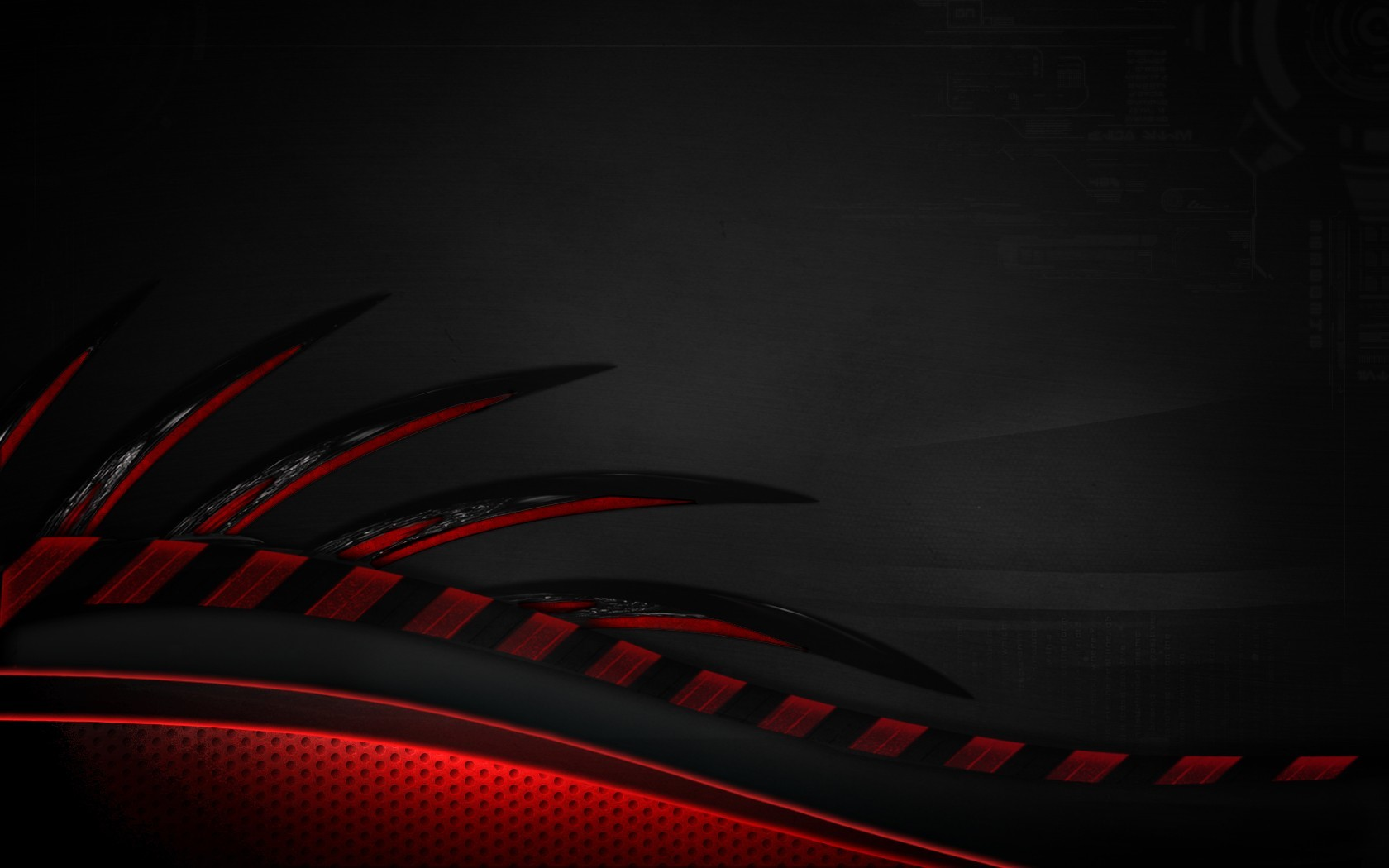 abstract red spikes science HD Wallpaper