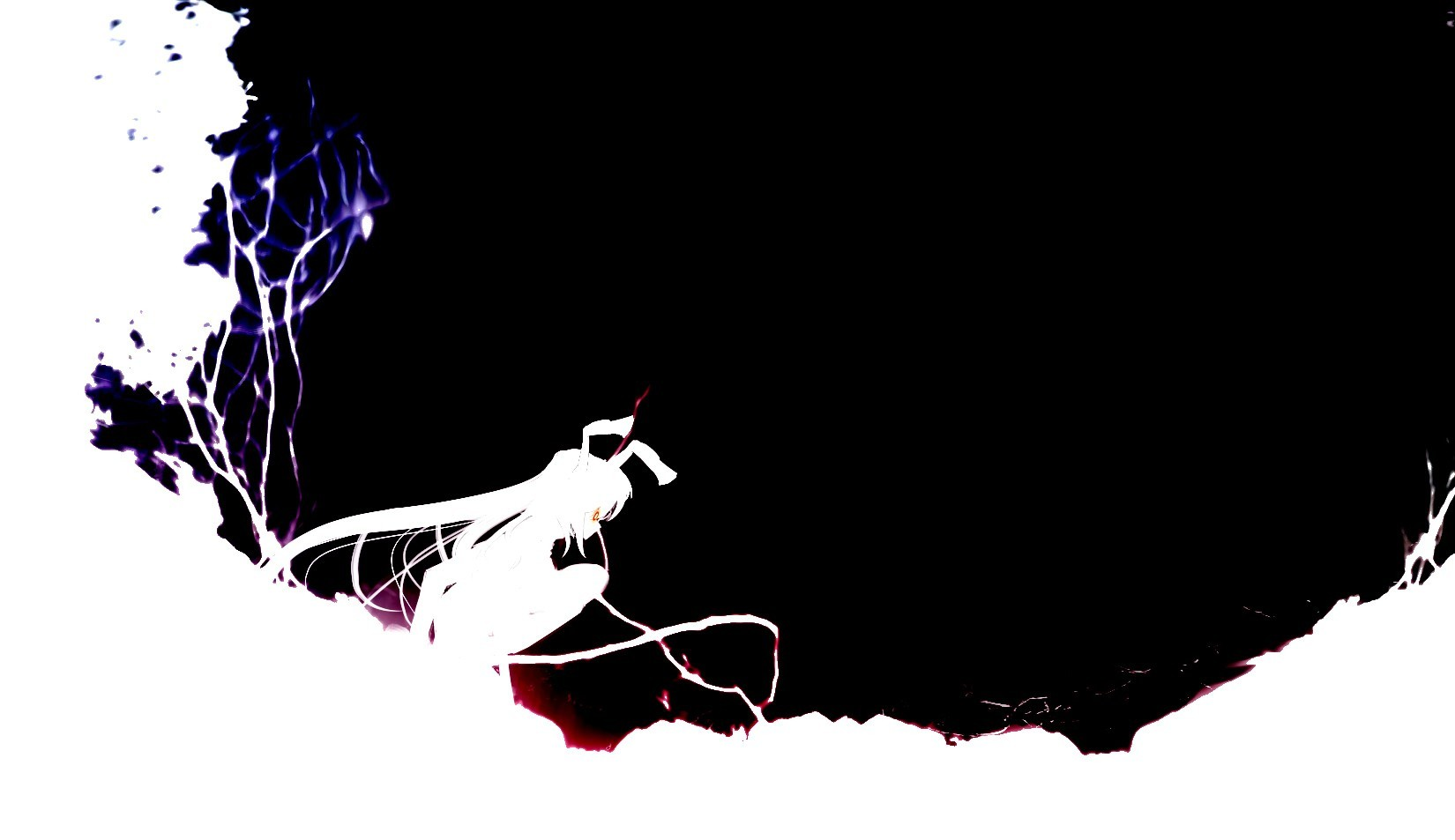 abstract touhou black white HD Wallpaper