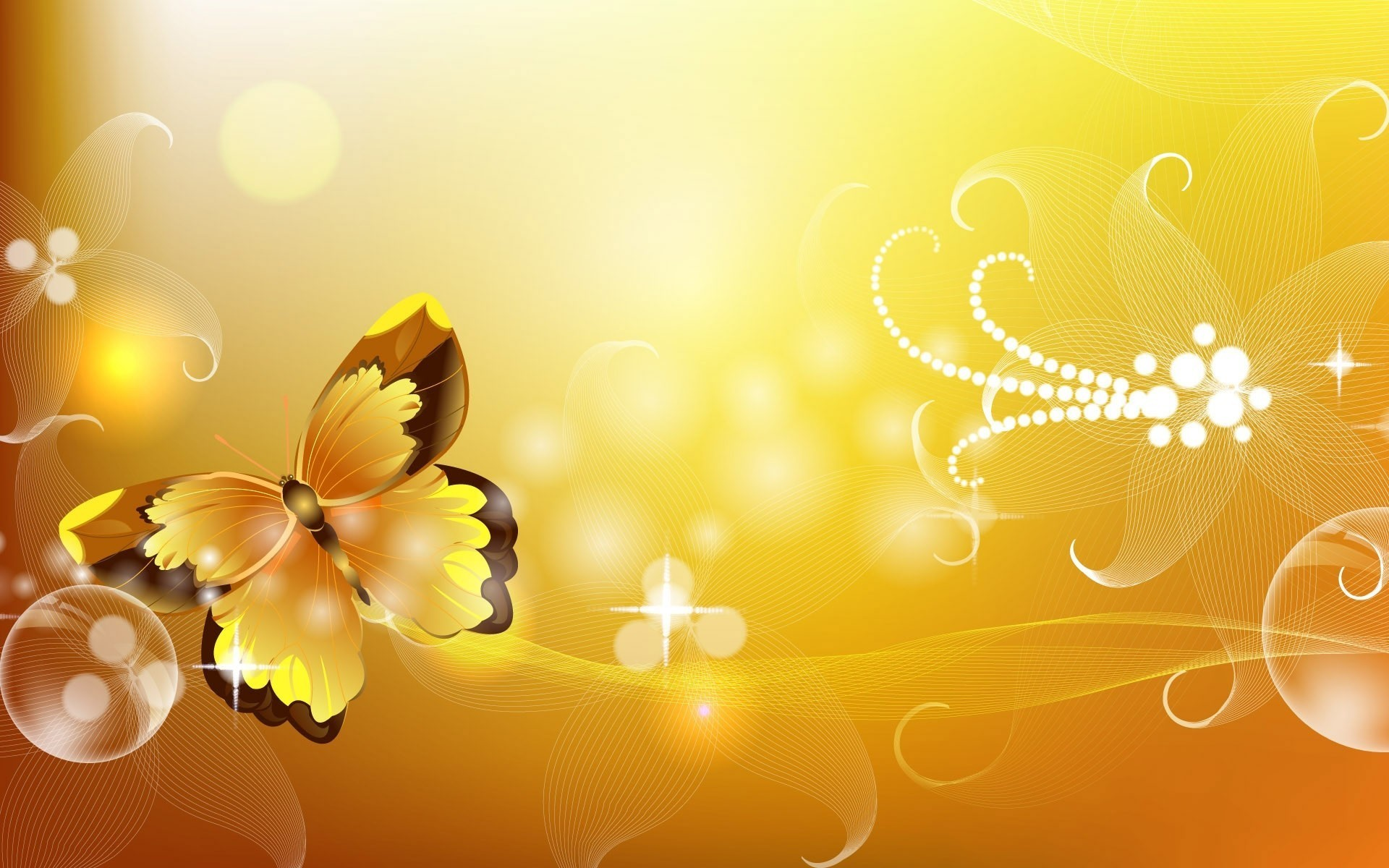 abstract wall Butterflies HD Wallpaper