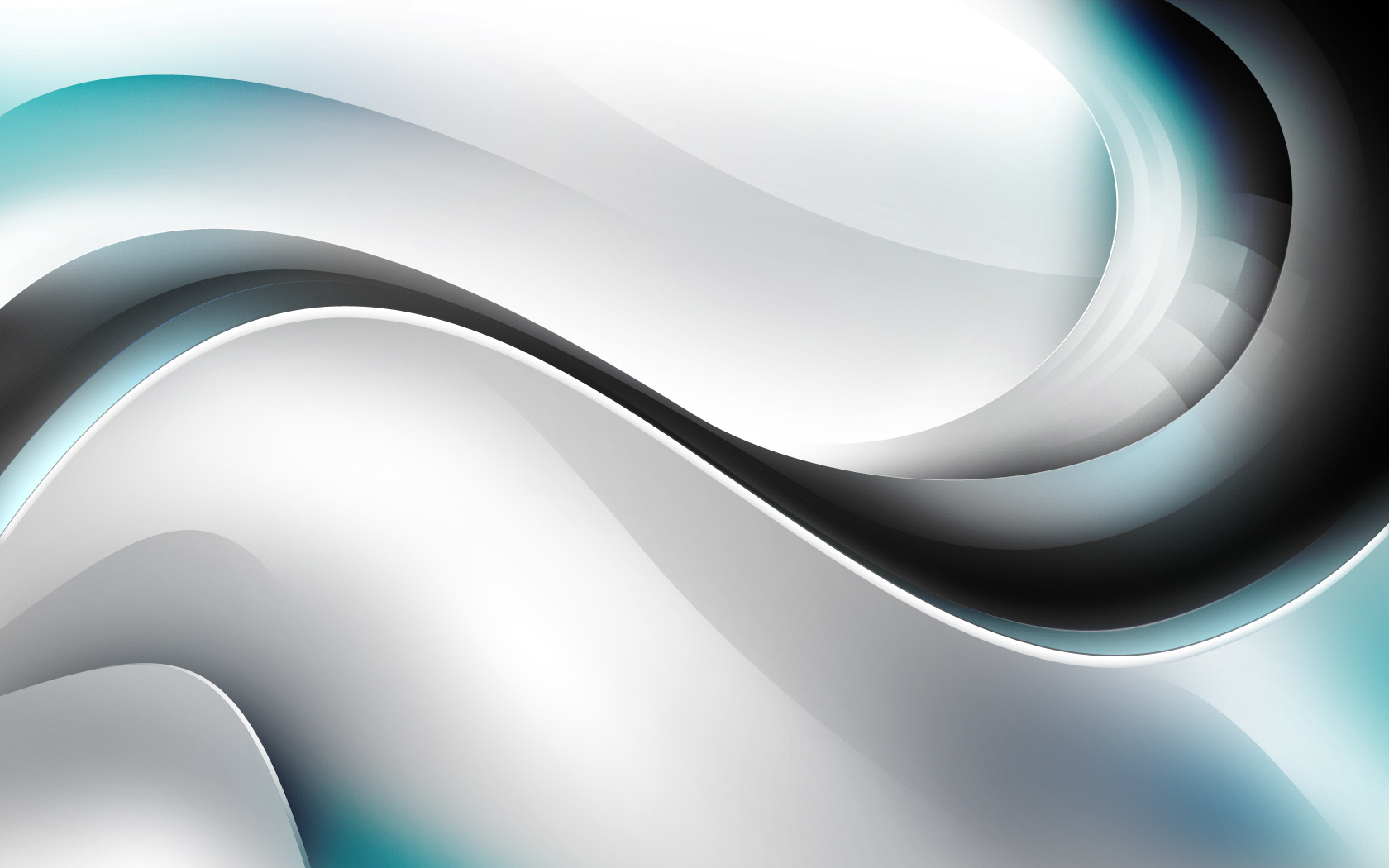 abstract white silver