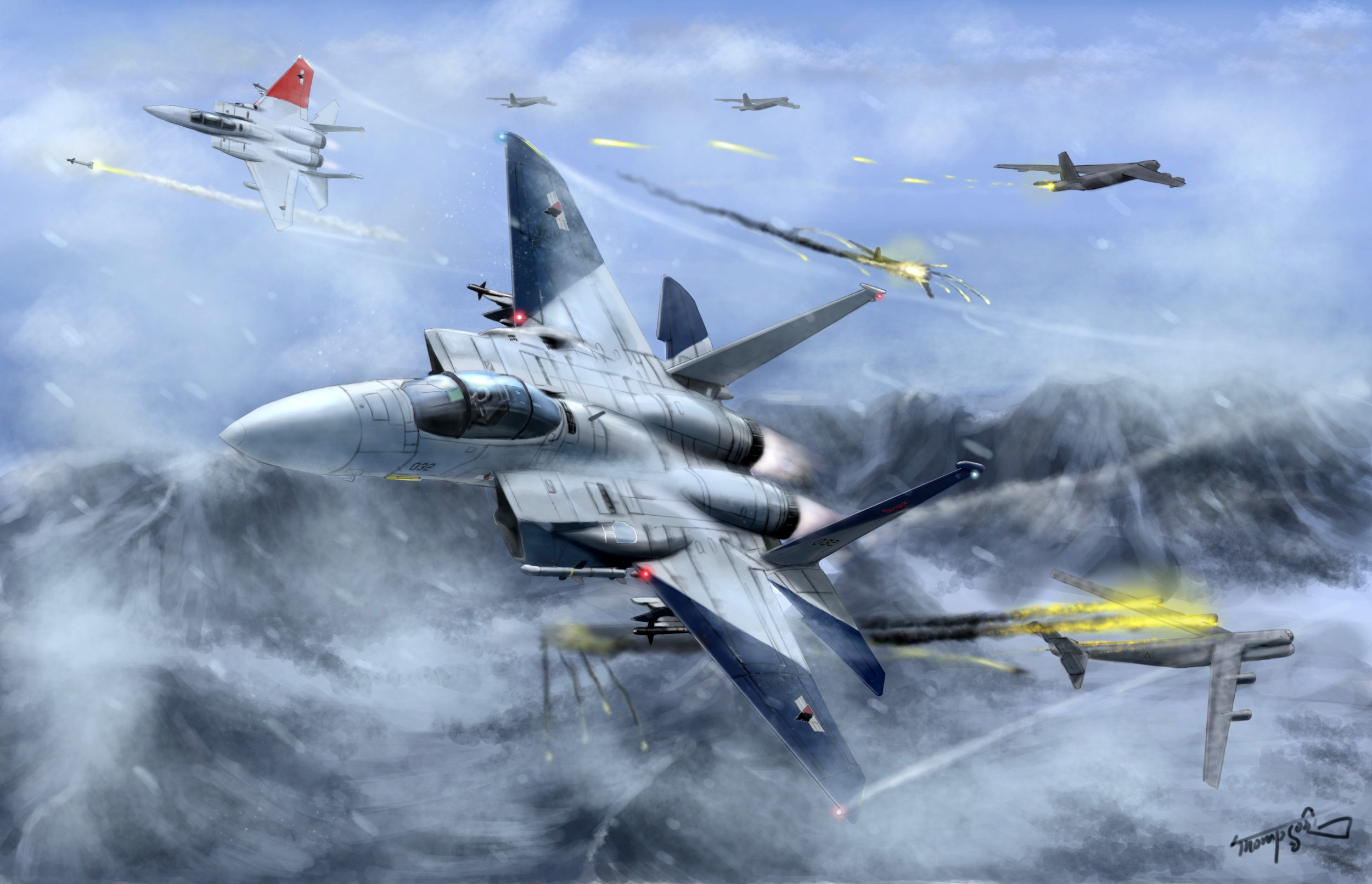 ace combat B-52 Stratofortress HD Wallpaper