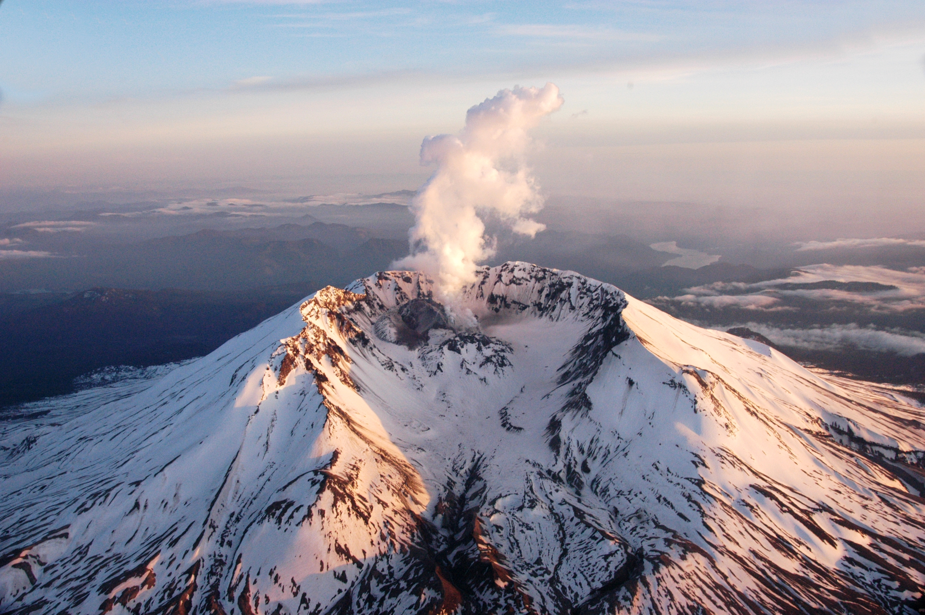 aerial mount St helens HD Wallpaper