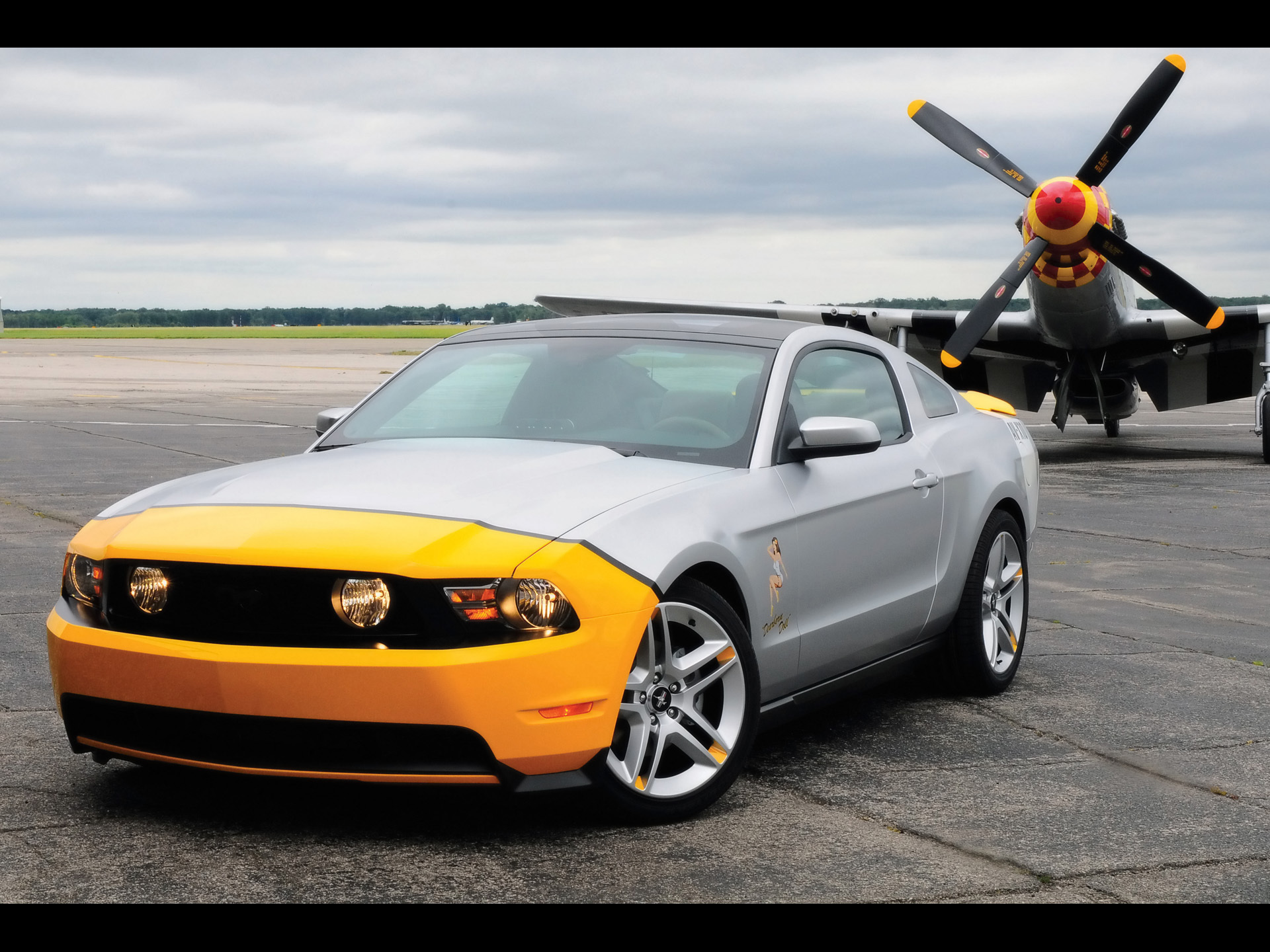 Aircraft cars Ford mustang HD Wallpaper