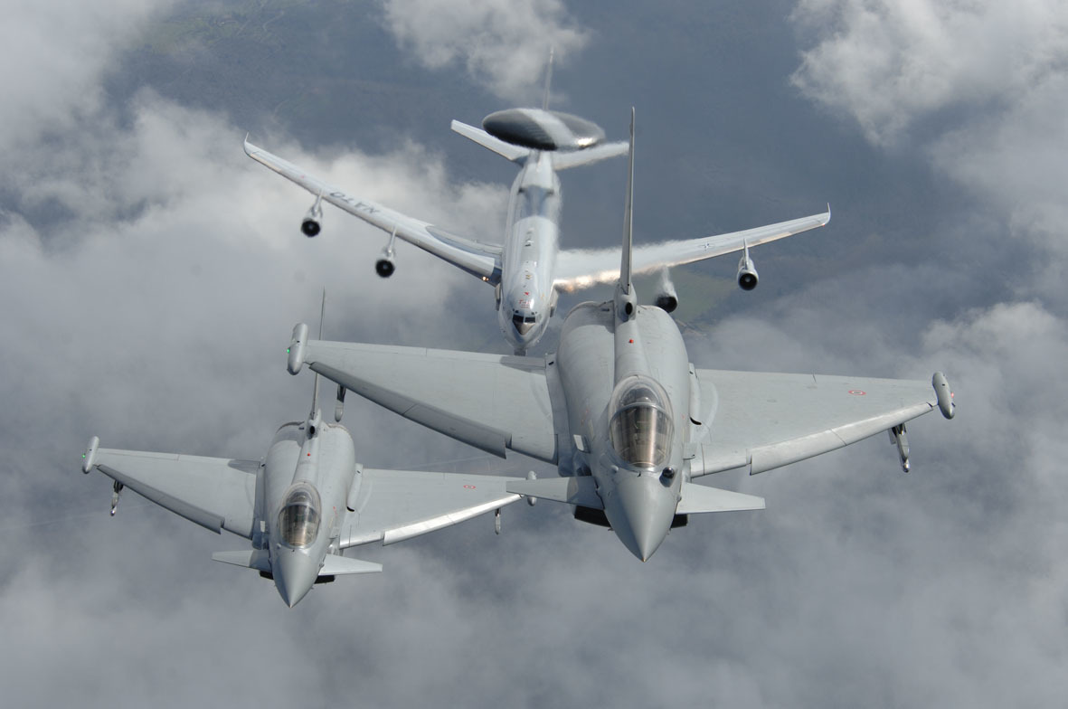 Aircraft eurofighter Typhoon AWACS HD Wallpaper