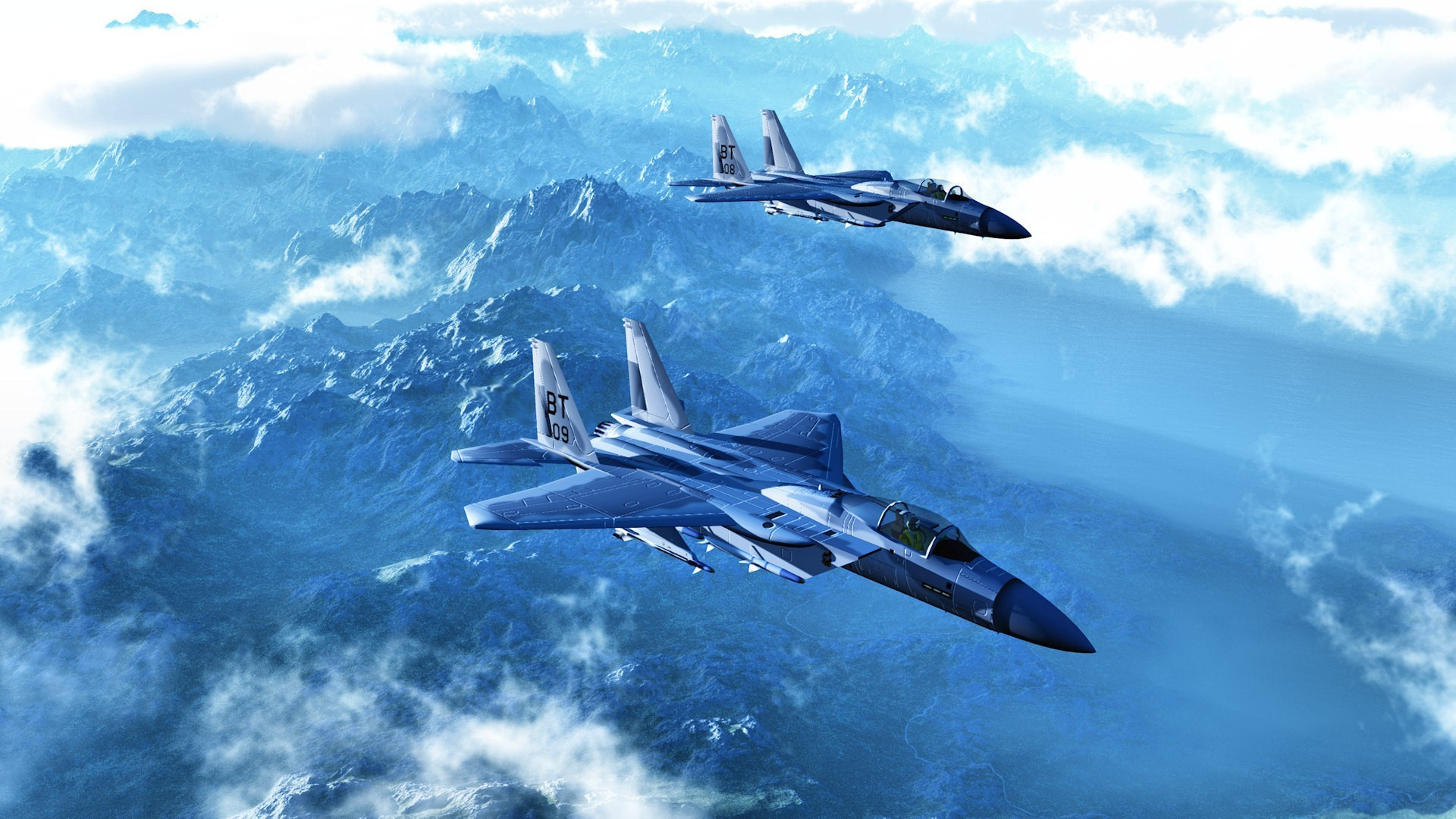 Aircraft f-15 eagle skyscapes HD Wallpaper