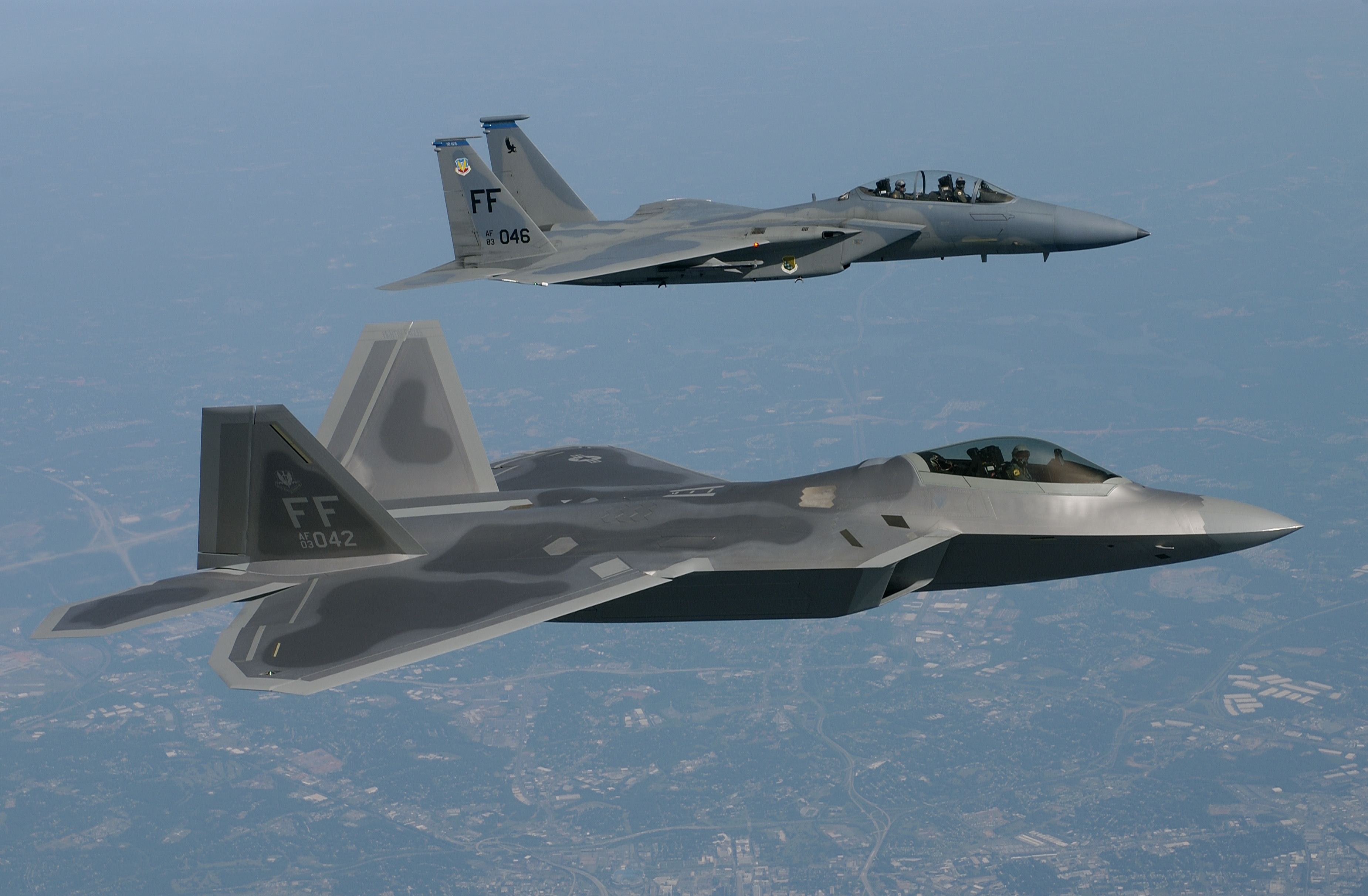 Aircraft F-22 raptor f-15 HD Wallpaper