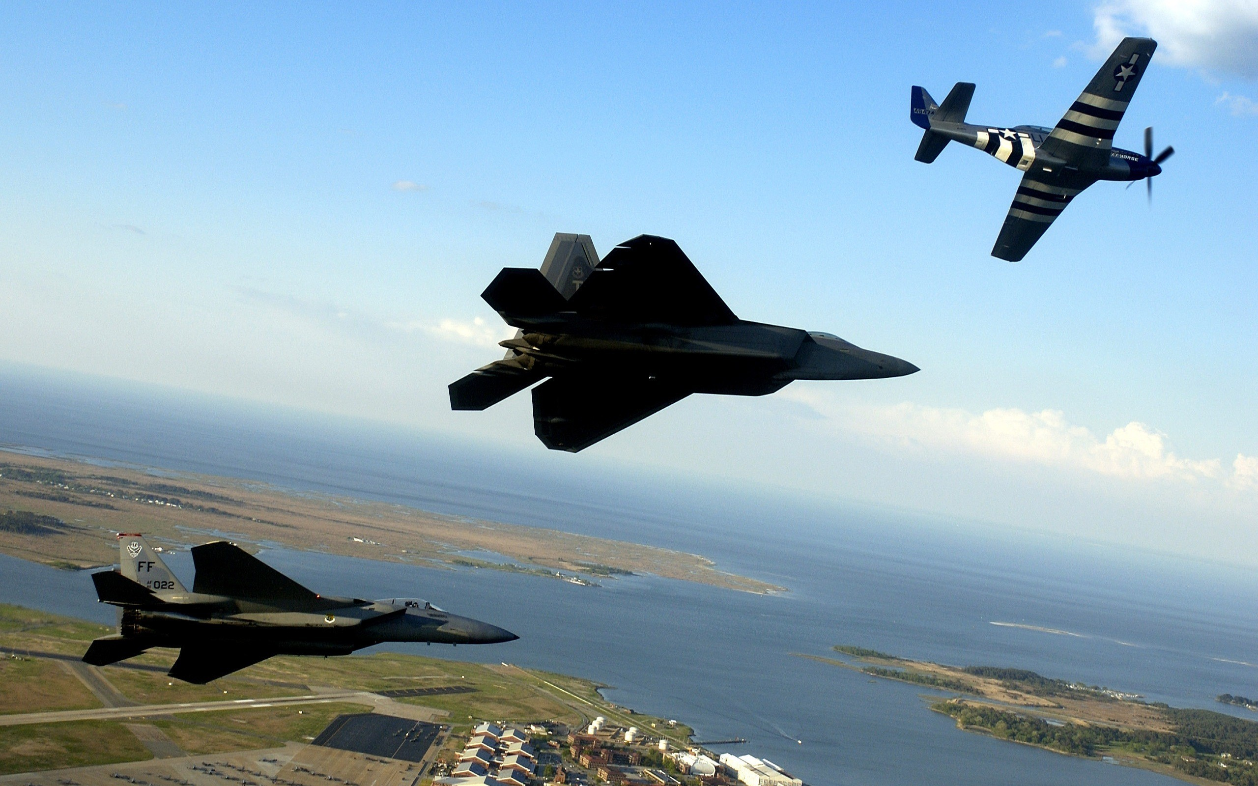 Aircraft F-22 Raptor United HD Wallpaper
