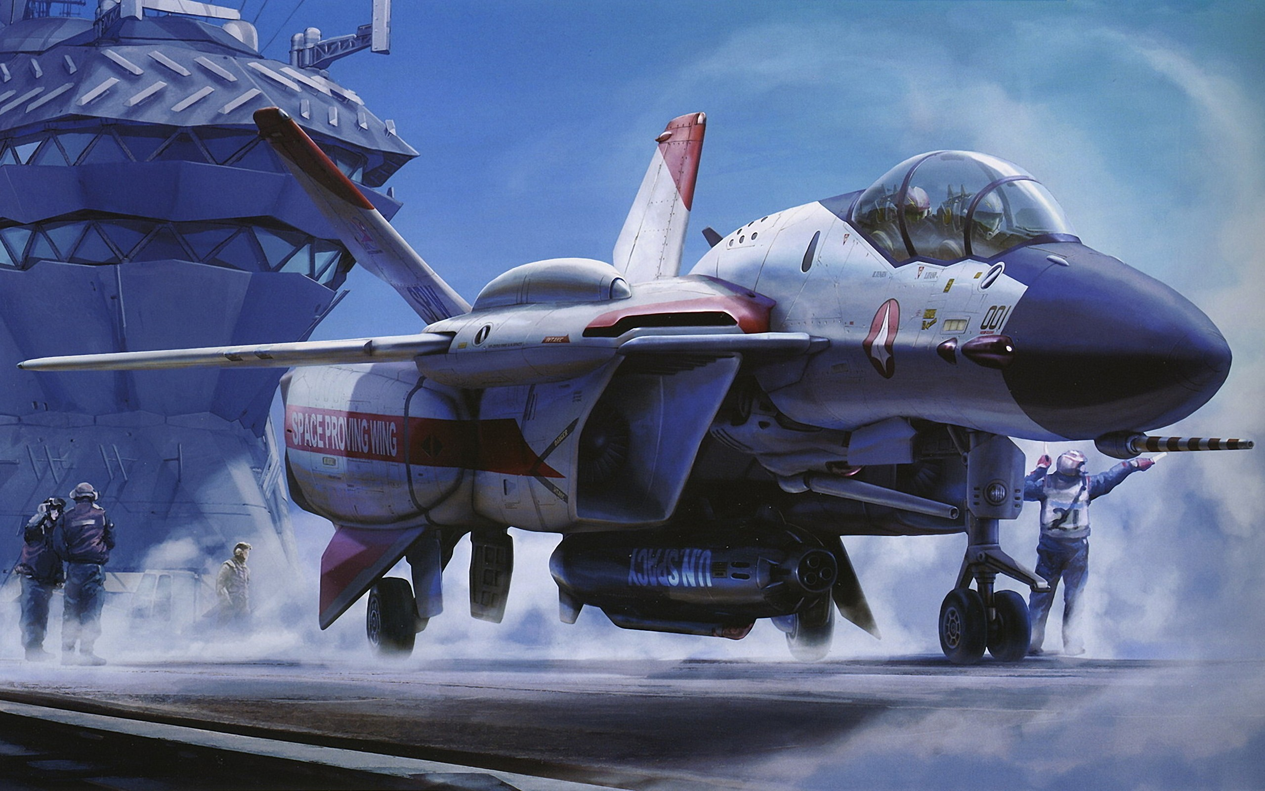 Aircraft macross artwork HD Wallpaper