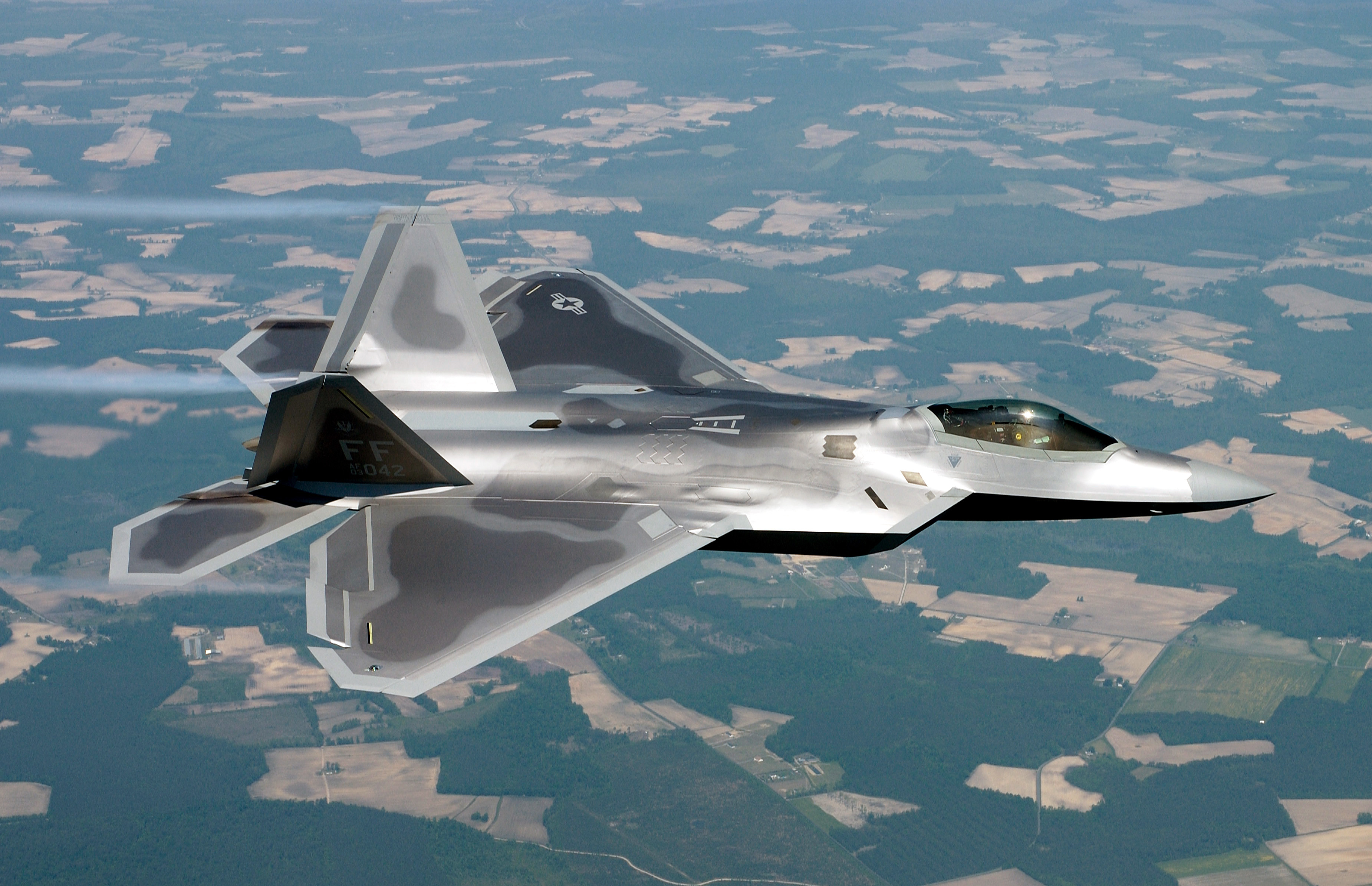 Aircraft military F-22 Raptor