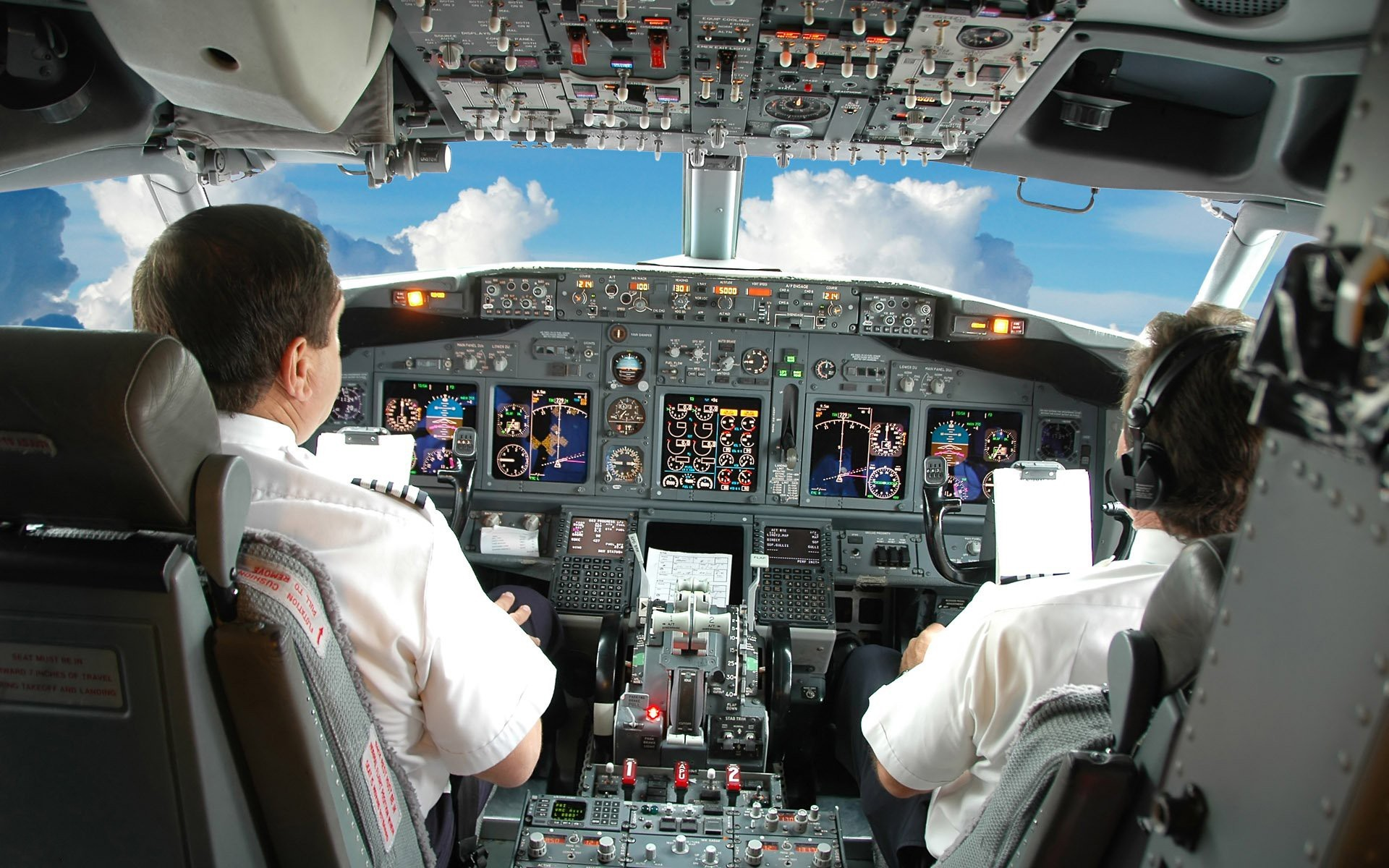 Aircraft pilot cockpit Boeing HD Wallpaper