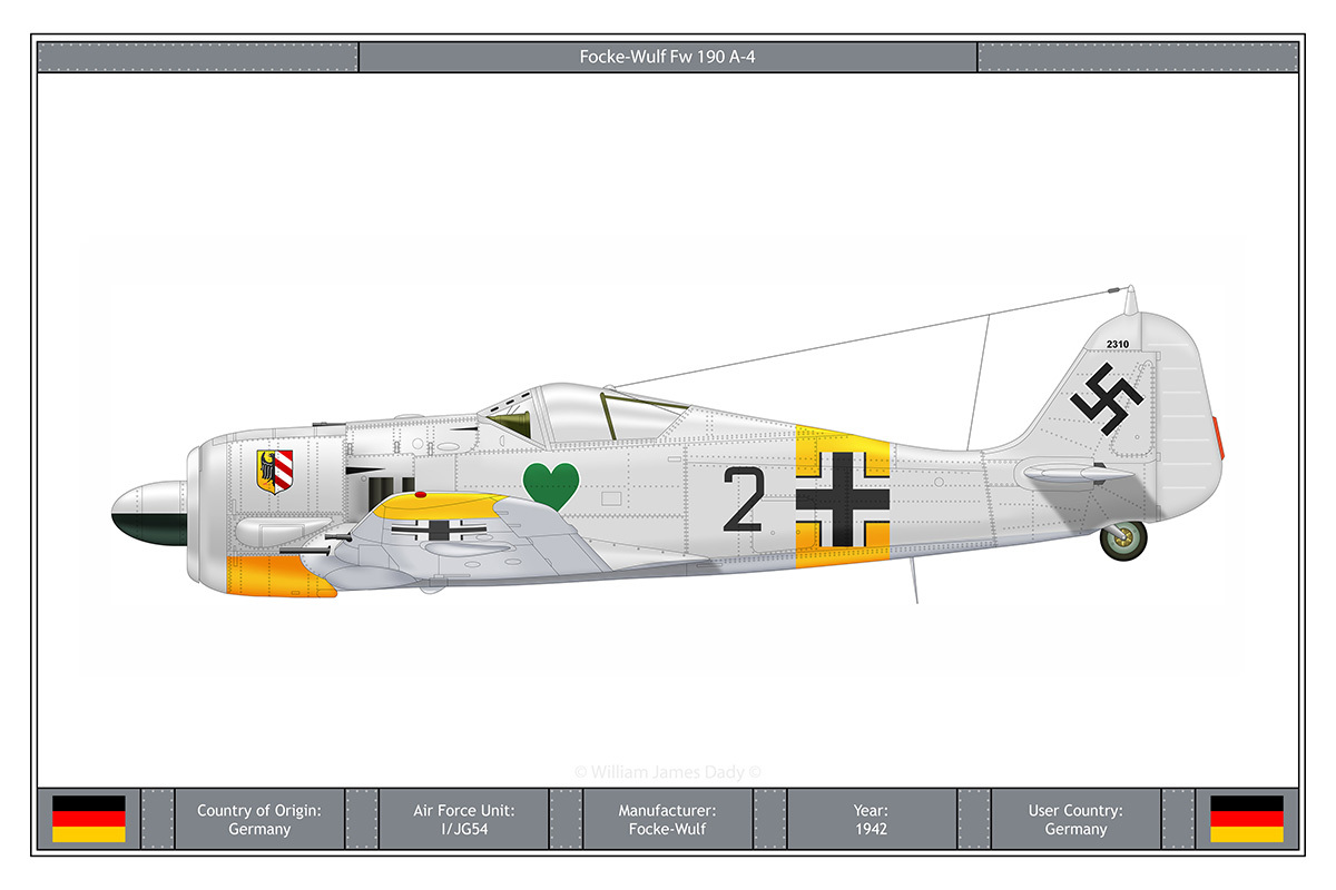 Aircraft schematic Focke-Wulf 190 HD Wallpaper